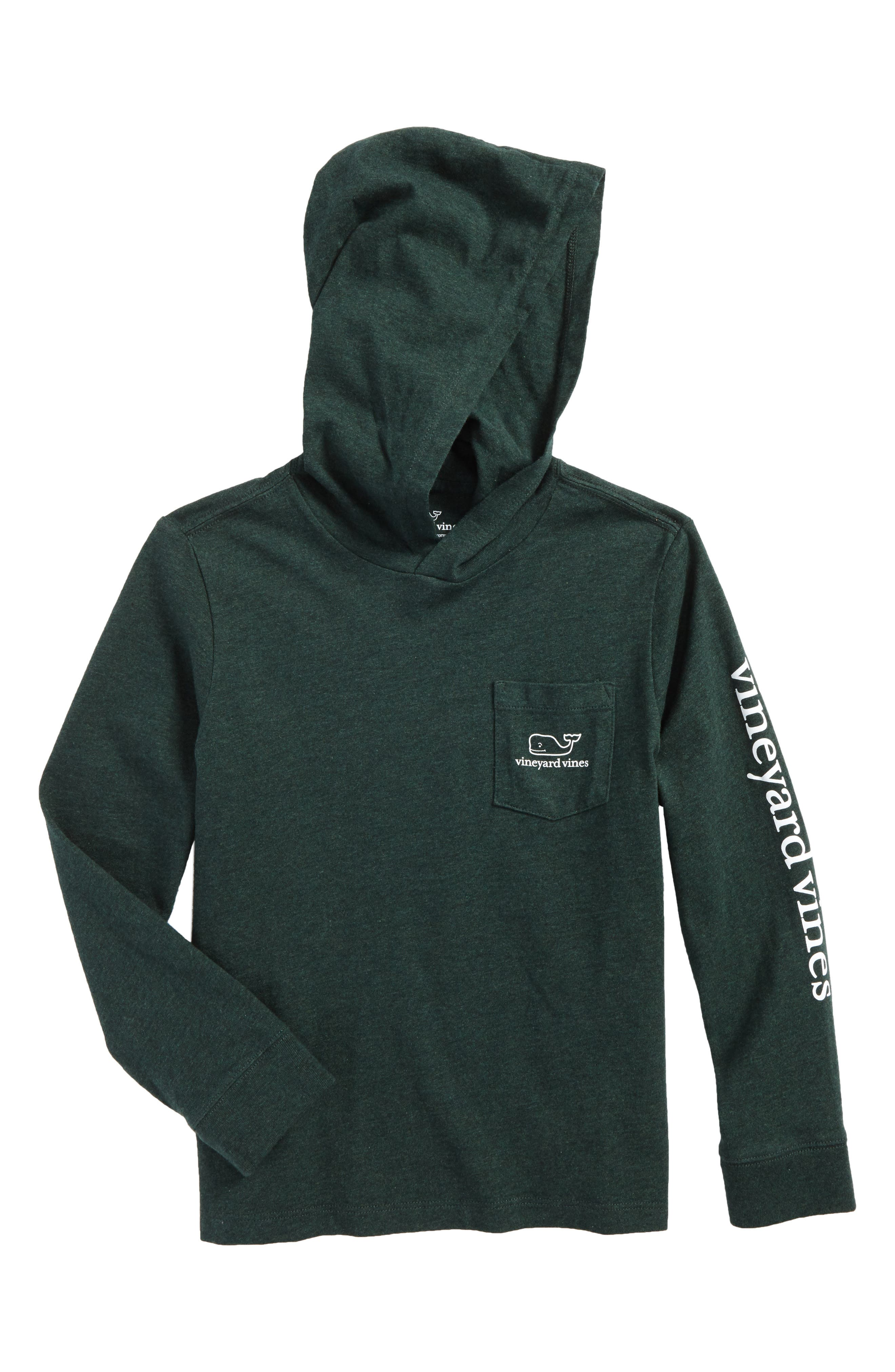 Whale Hooded T-Shirt,                         Main,                         color, Charleston Green