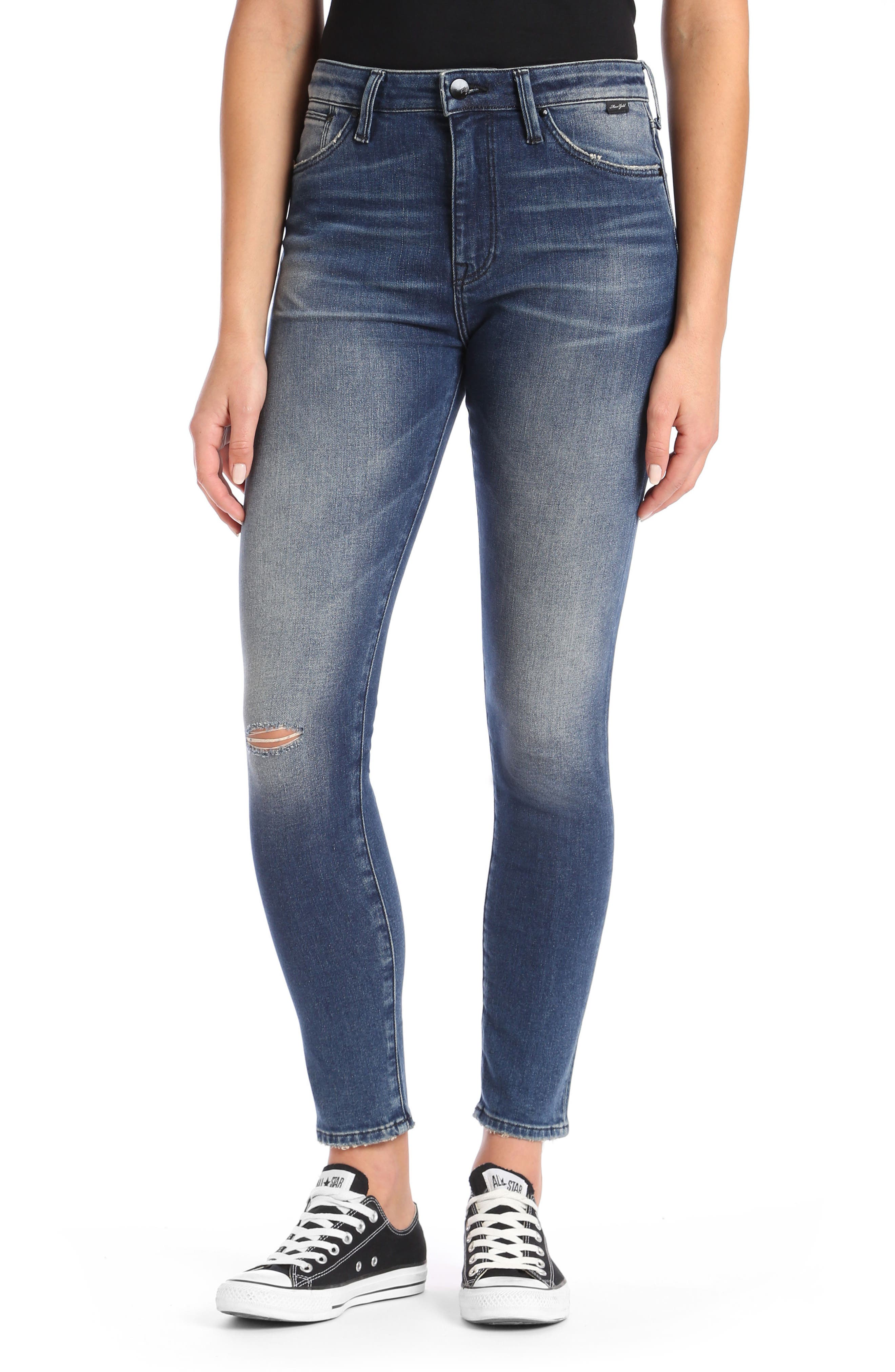 Lucy Skinny Jeans,                         Main,                         color, Dark Vintage Gold Icon