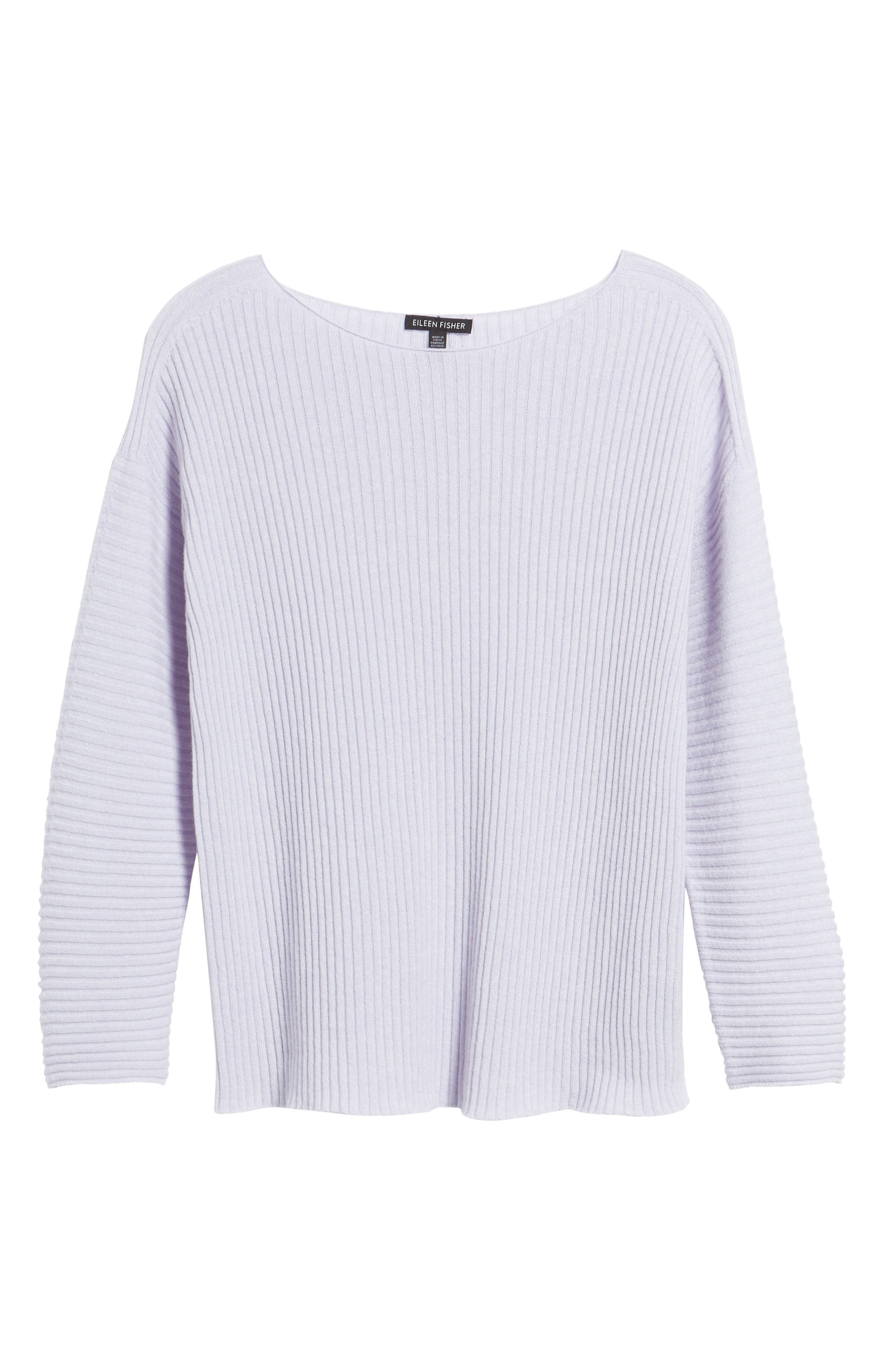 Ribbed Cashmere Sweater,                             Alternate thumbnail 6, color,                             Moon