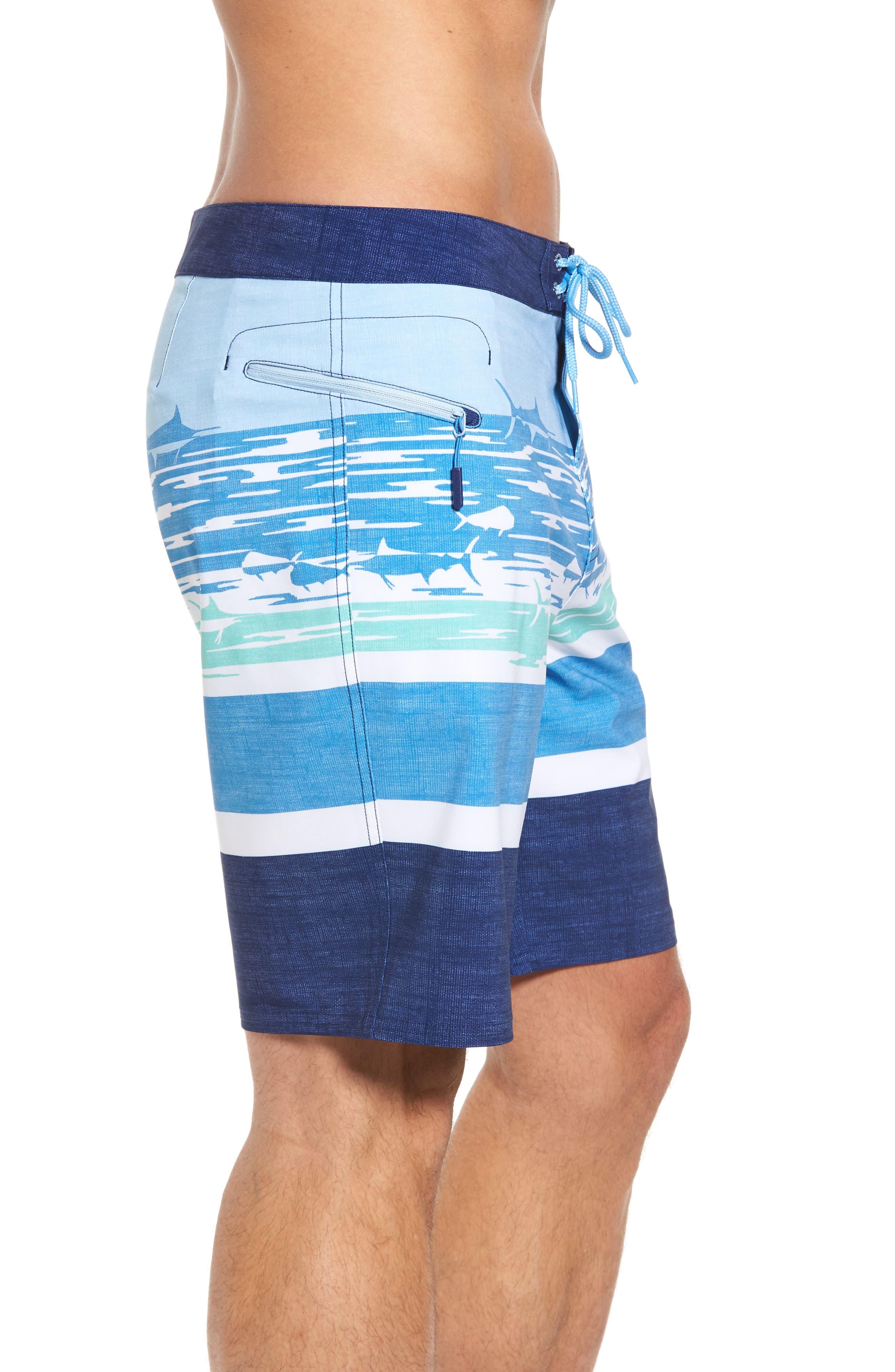 At Sea Scenic Board Shorts,                             Alternate thumbnail 4, color,                             Deep Bay