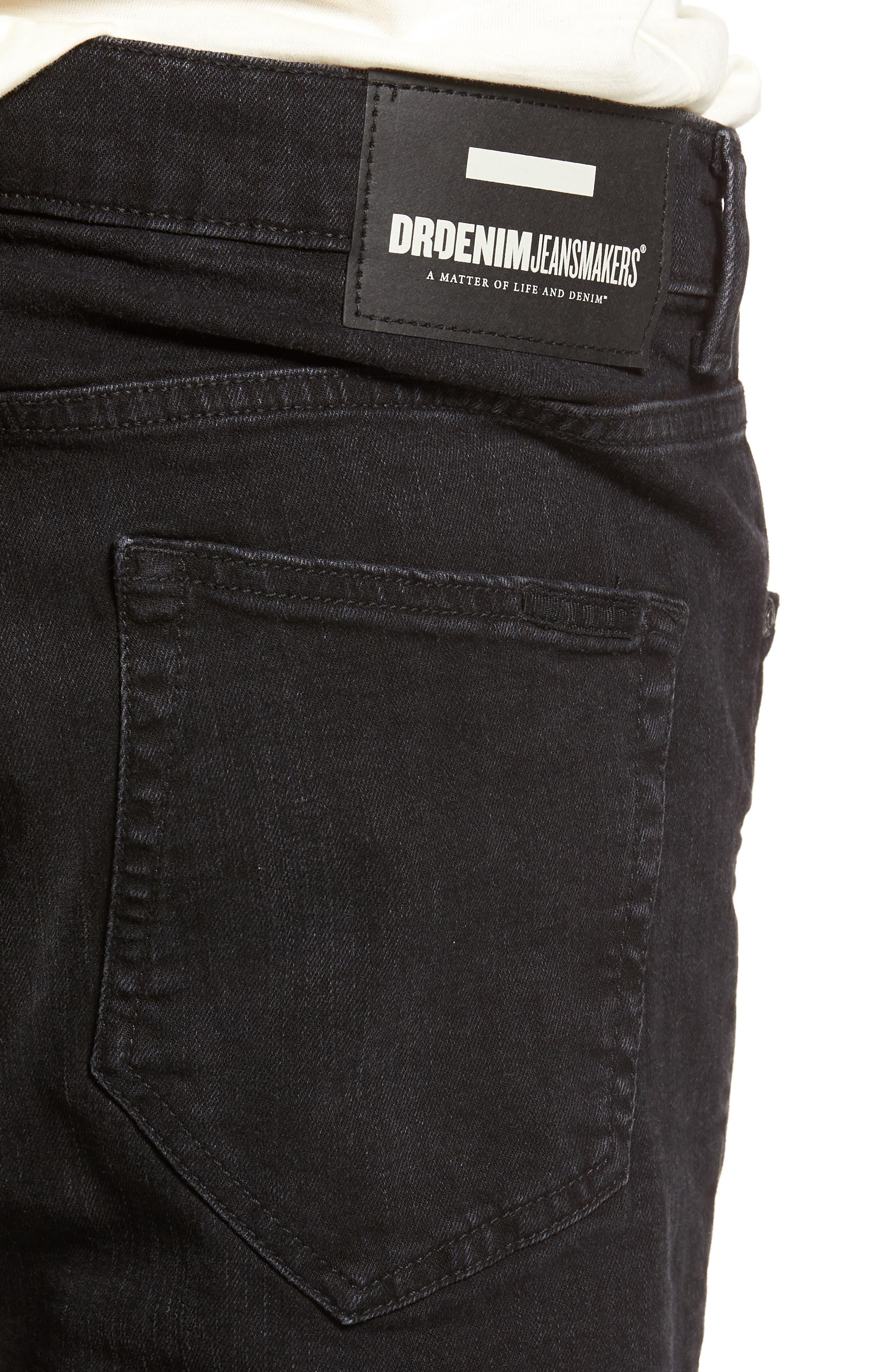 Clark Slim Straight Leg Jeans,                             Alternate thumbnail 4, color,                             Organic Worn Black