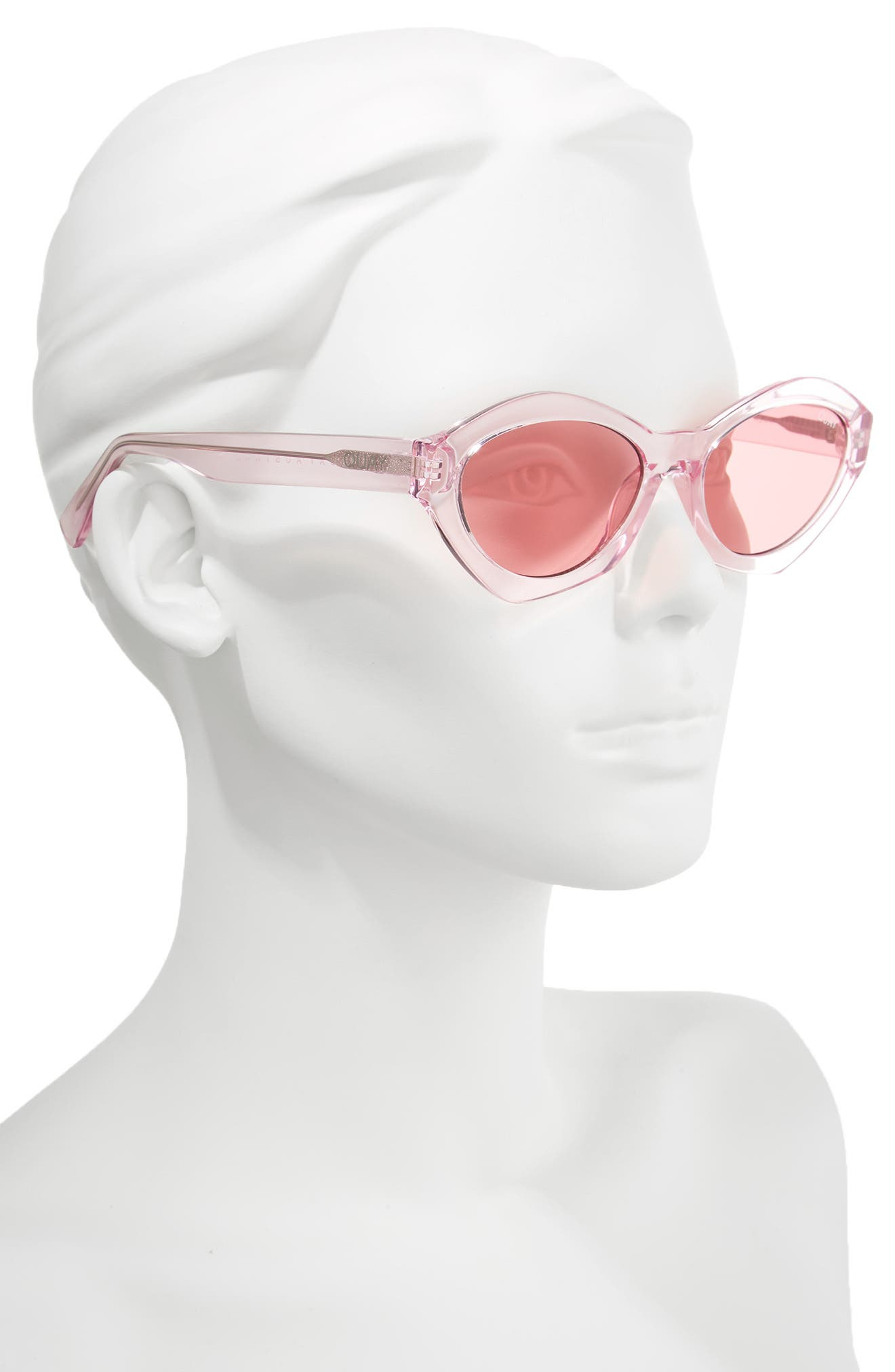 54mm As If Oval Sunglasses,                             Alternate thumbnail 2, color,                             Pink/ Pink
