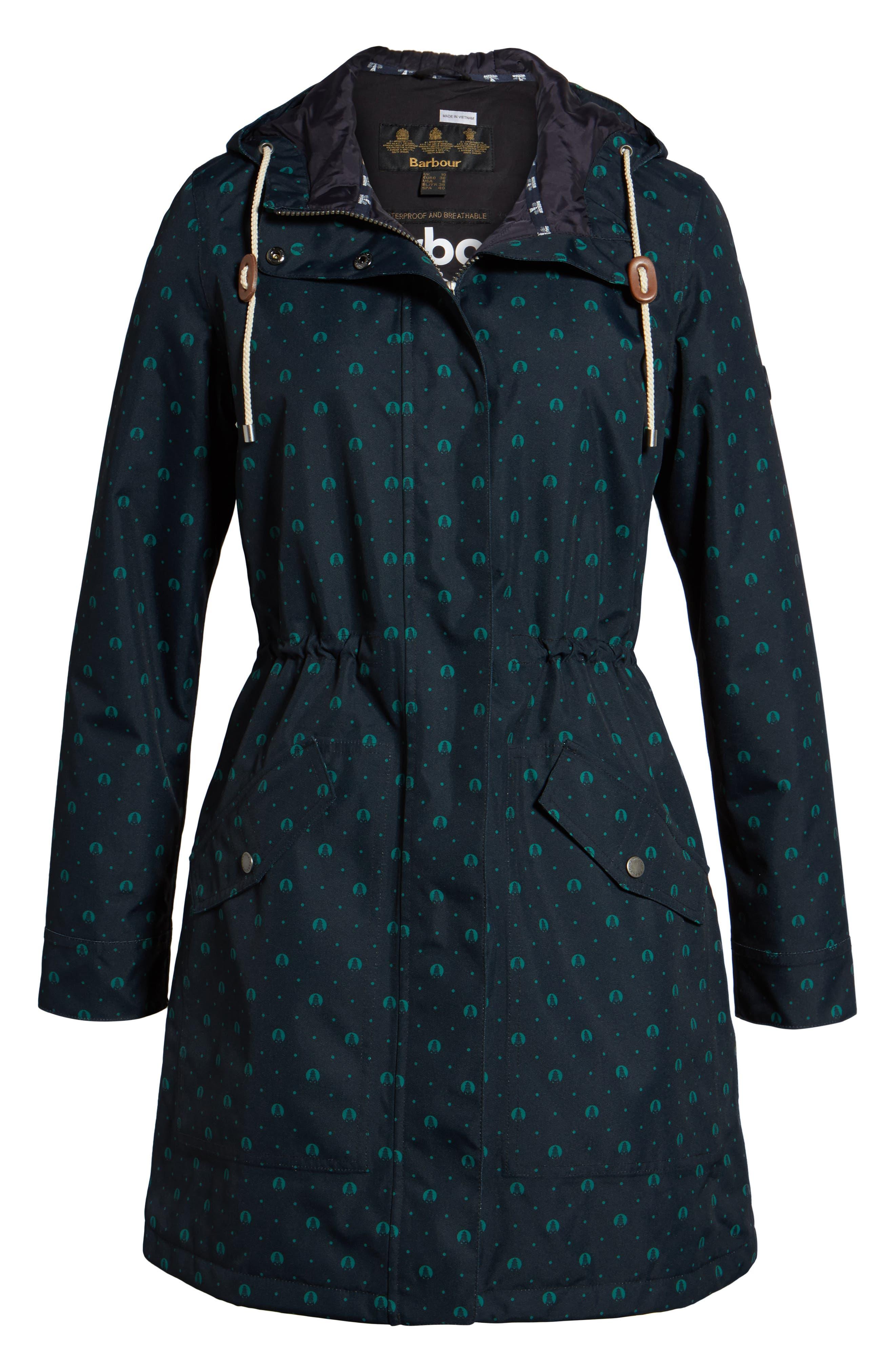 Decoy Anorak Jacket,                             Alternate thumbnail 6, color,                             Navy / Evergreen Beacon S