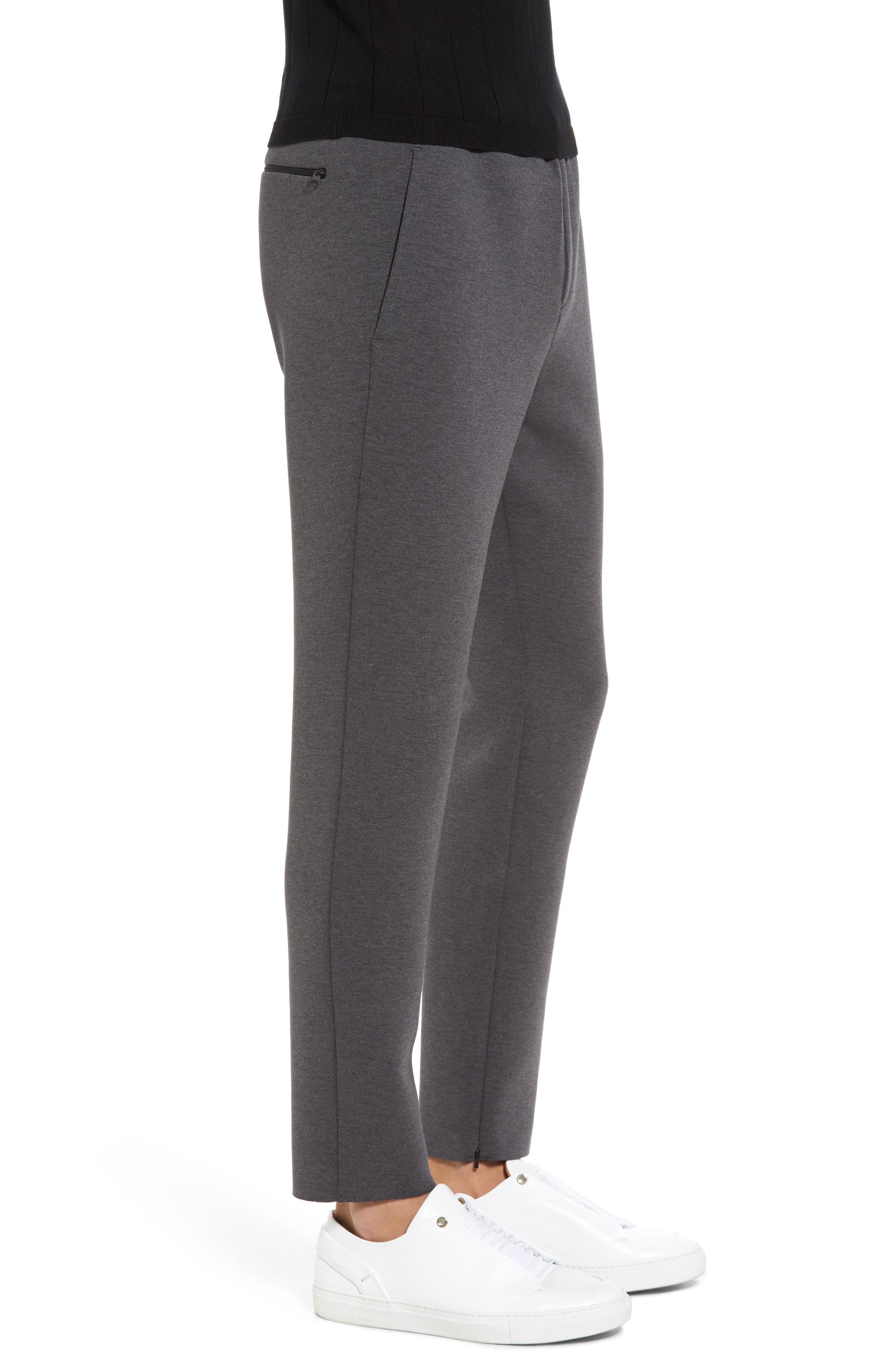 Knit Lounge Pants,                             Alternate thumbnail 3, color,                             Charcoal Heather