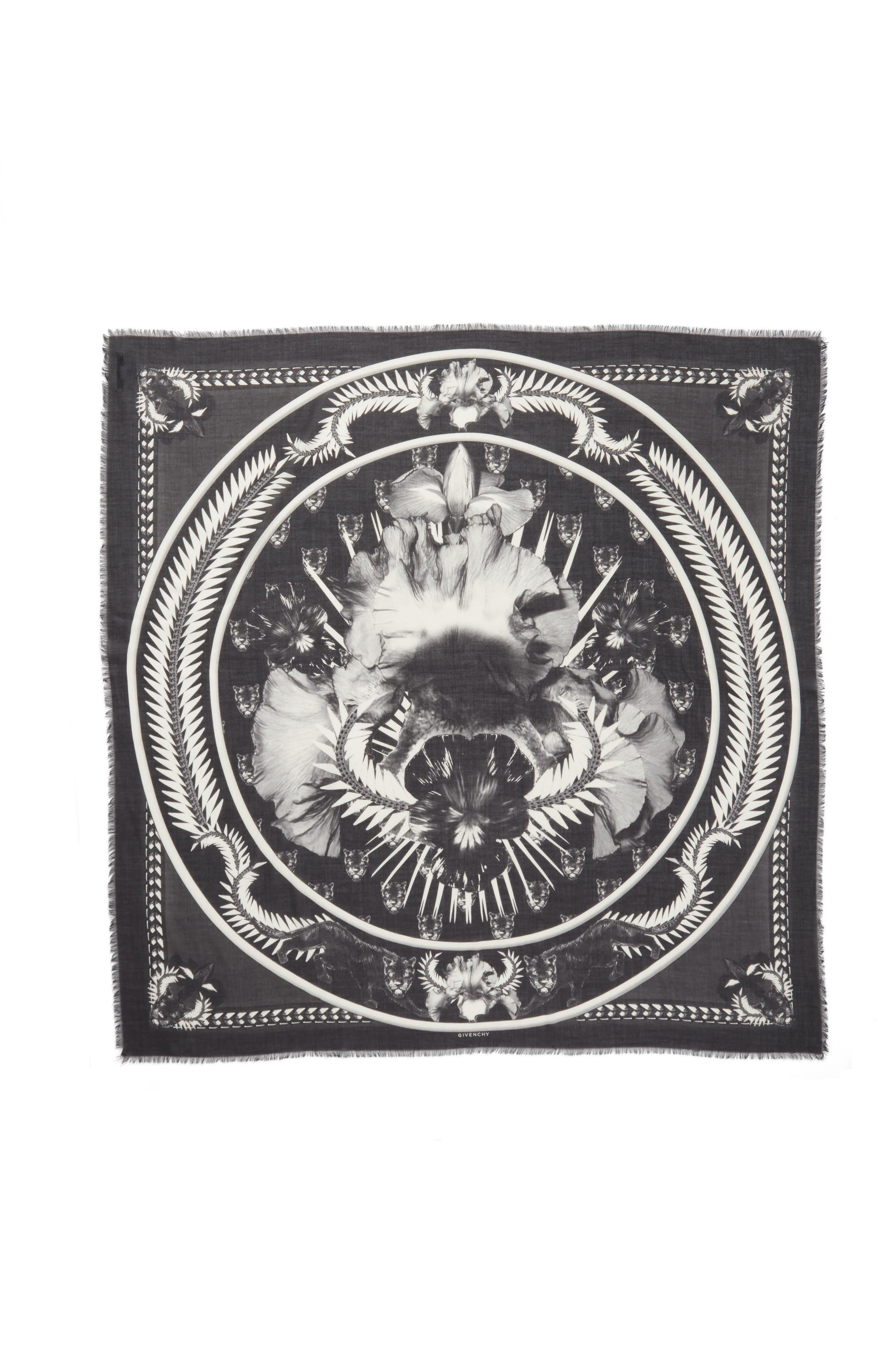 Givenchy Orchid Silk, Cashmere & Wool Scarf