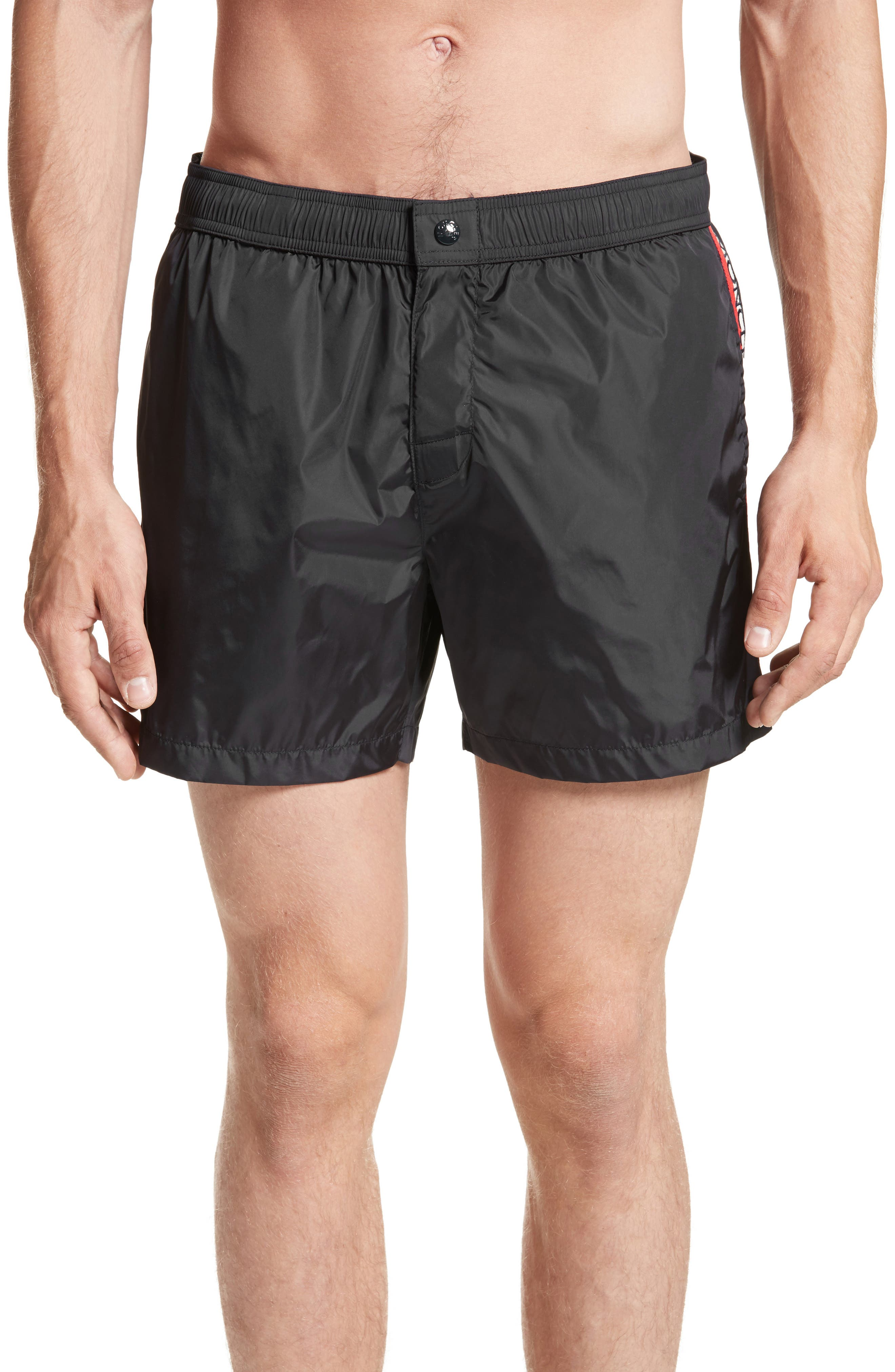 orange moncler swim shorts