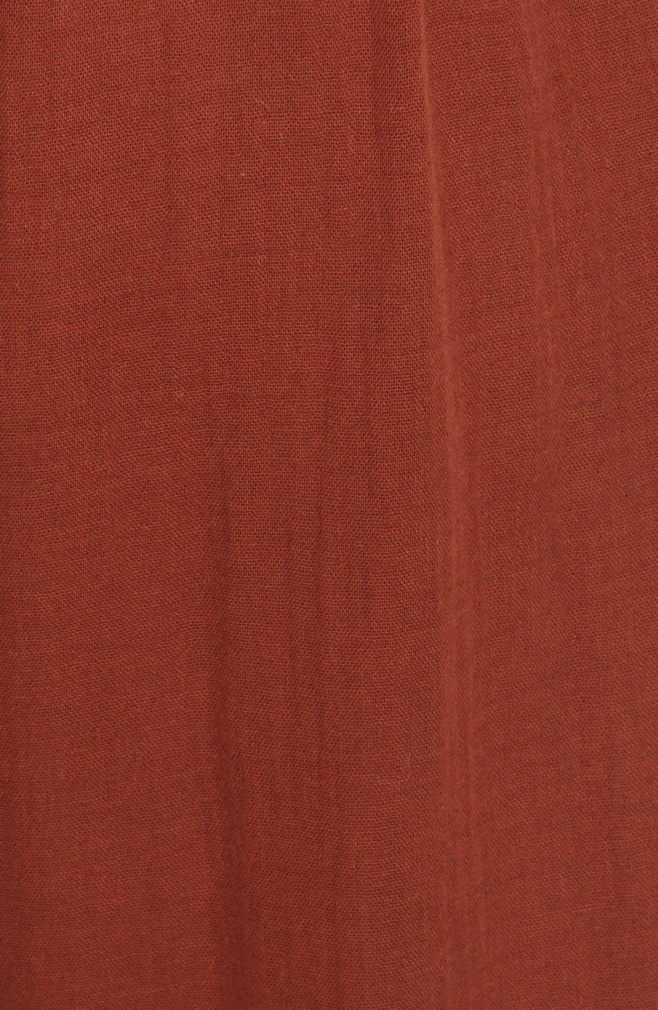Sleeveless V-Neck Jumpsuit,                             Alternate thumbnail 5, color,                             Mahogany