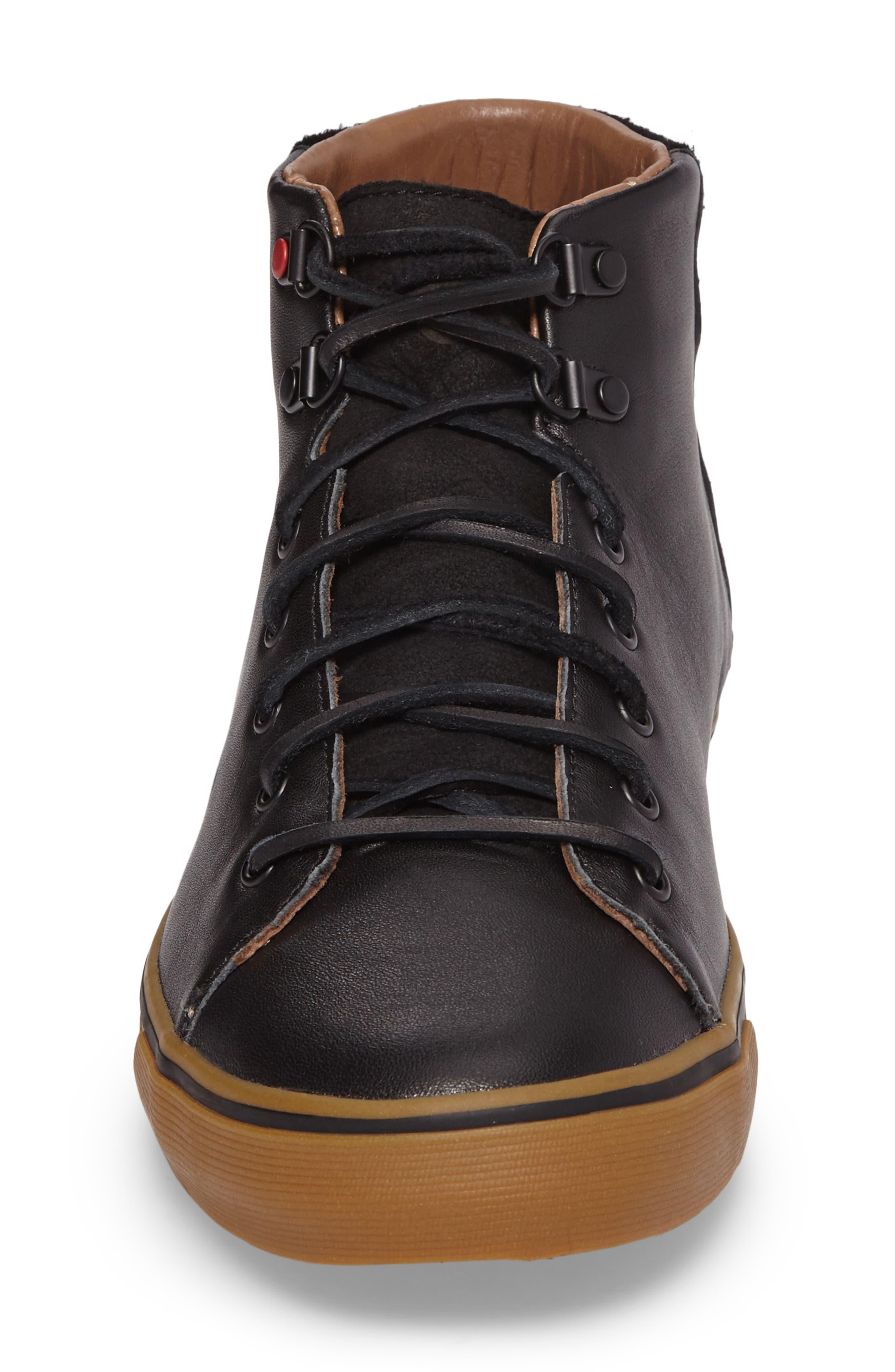 Alternate Image 4  - UGG® Hoyt Luxe Genuine Shearling High Top Sneaker (Men)