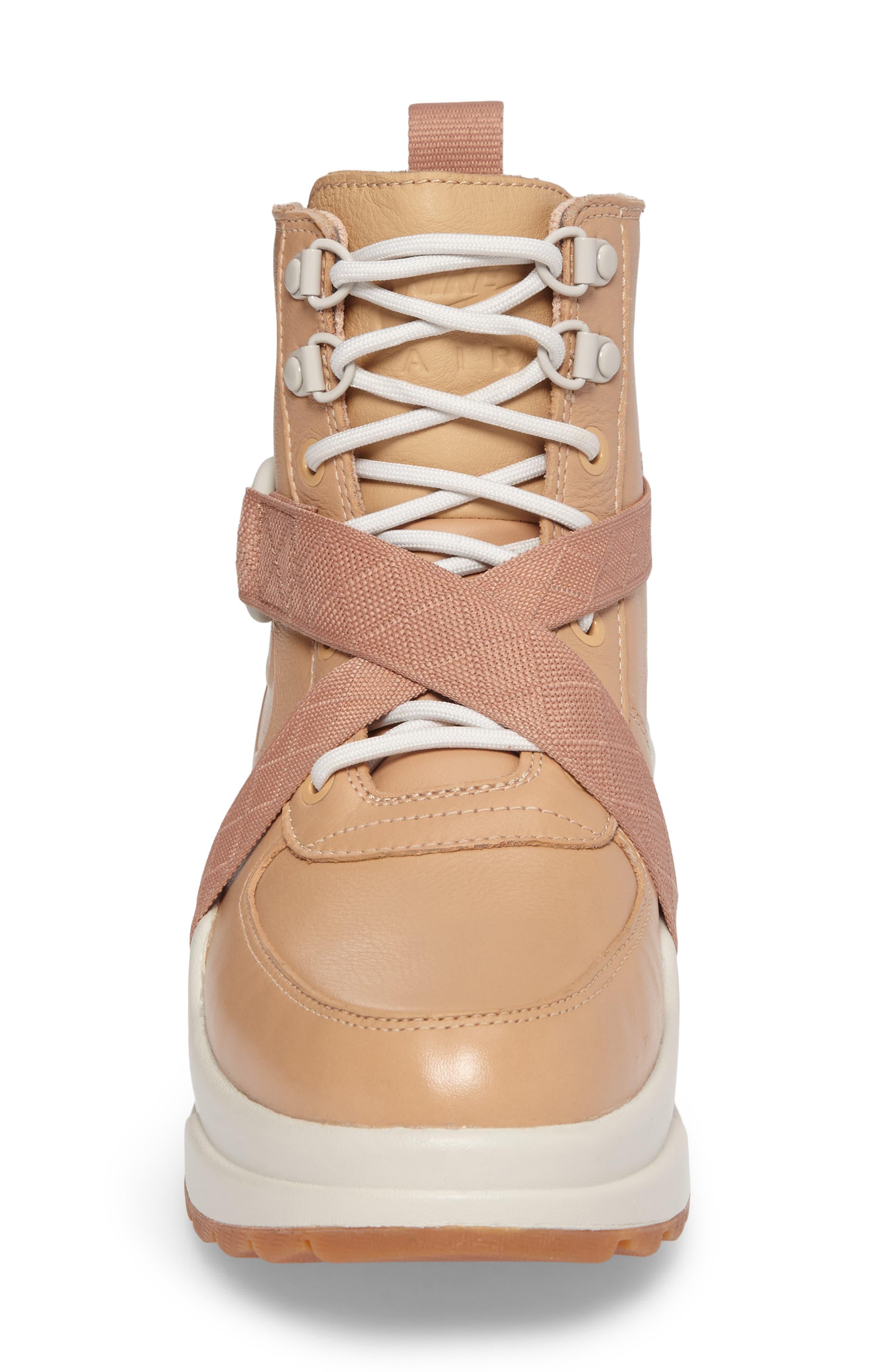 Air Max Goadome Sneaker Boot,                             Alternate thumbnail 4, color,                             Tan/ Tan/ Light Bone/ Clay
