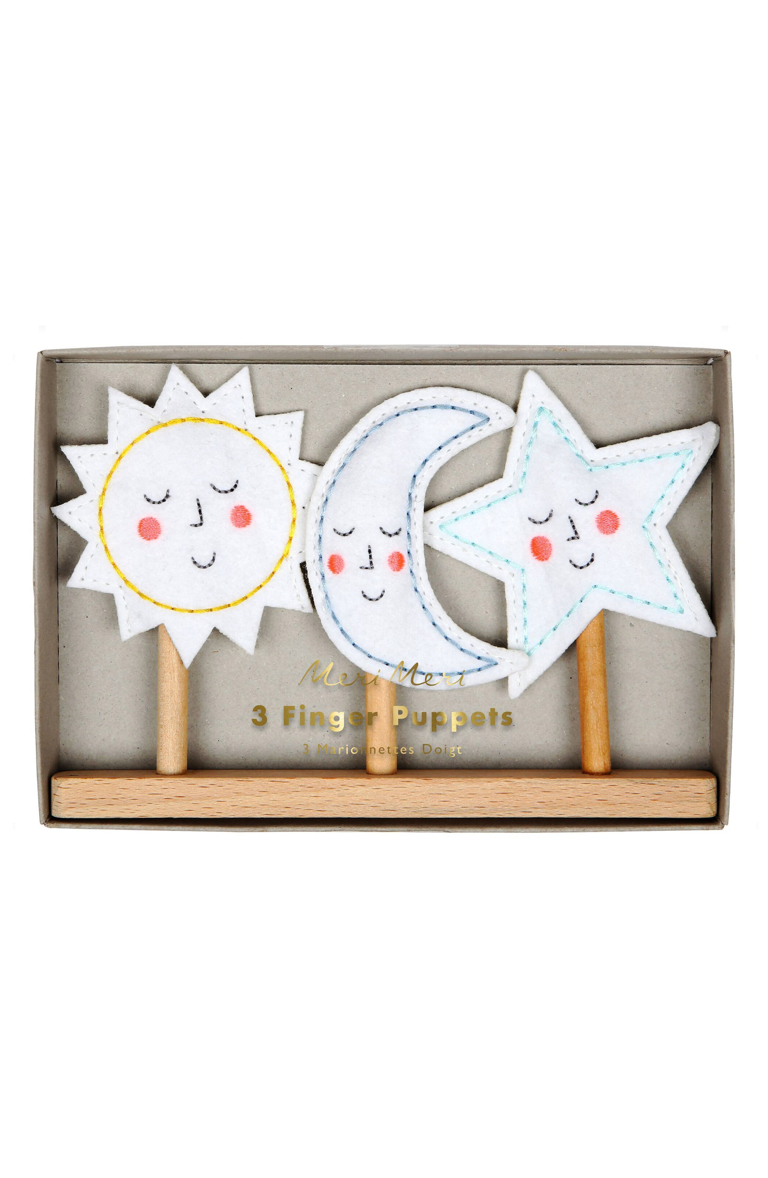 Meri Meri Set of 3 Celestial Finger Puppets