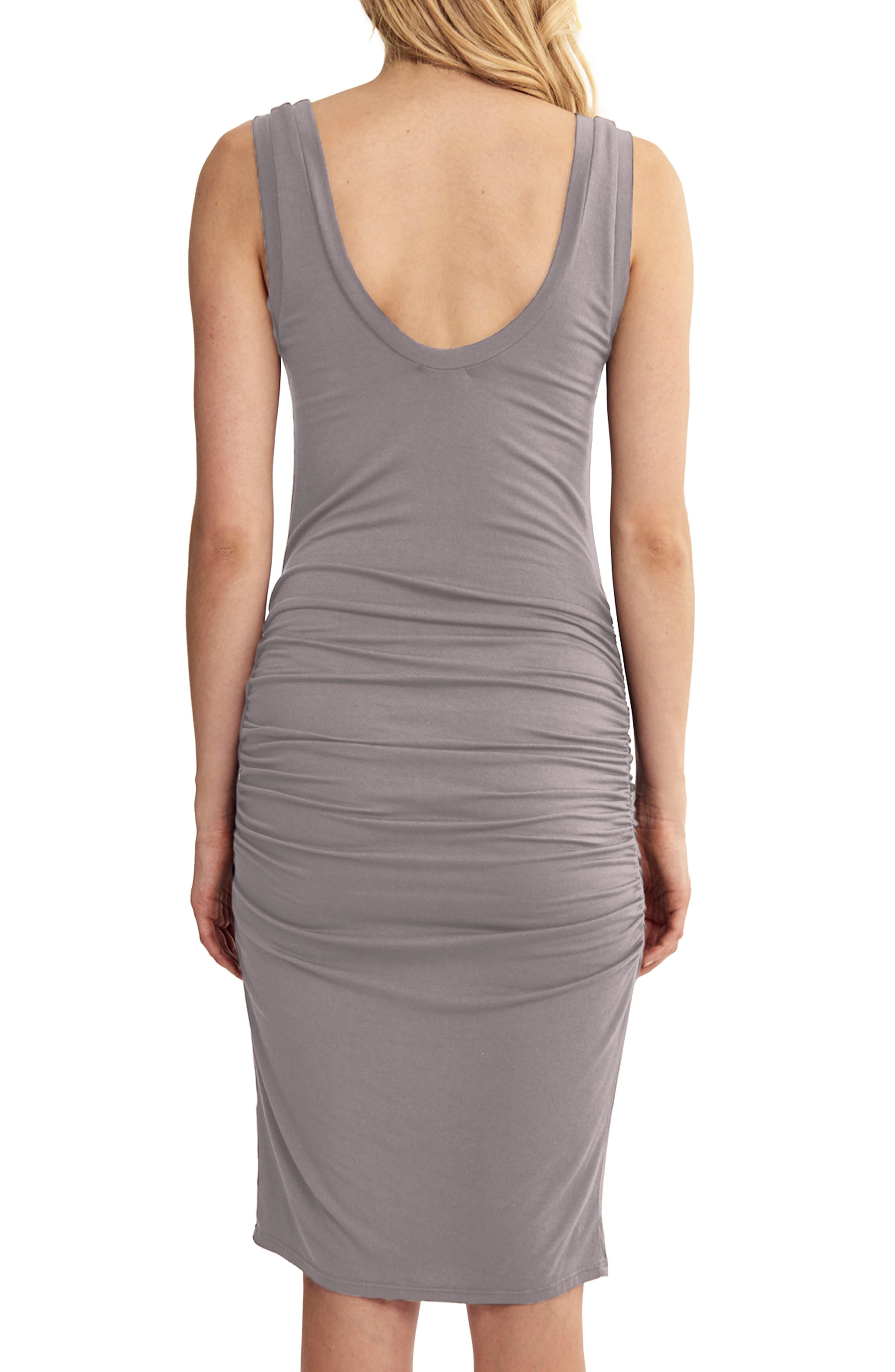 'Frankie' Ruched Tank Dress,                             Alternate thumbnail 2, color,                             Peppercorn