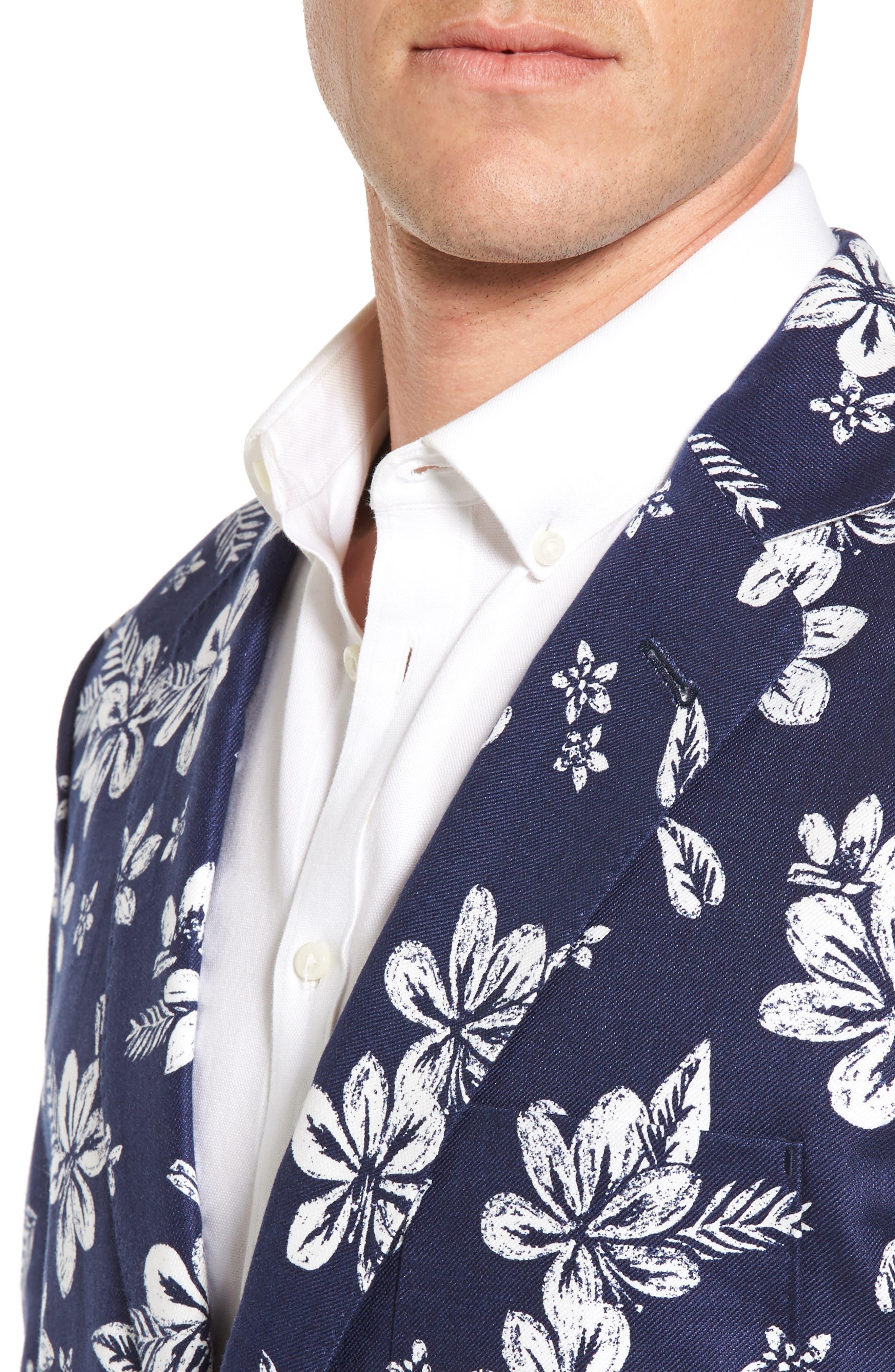Alternate Image 4  - vineyard vines Classic Fit Floral Linen Blend Sport Coat