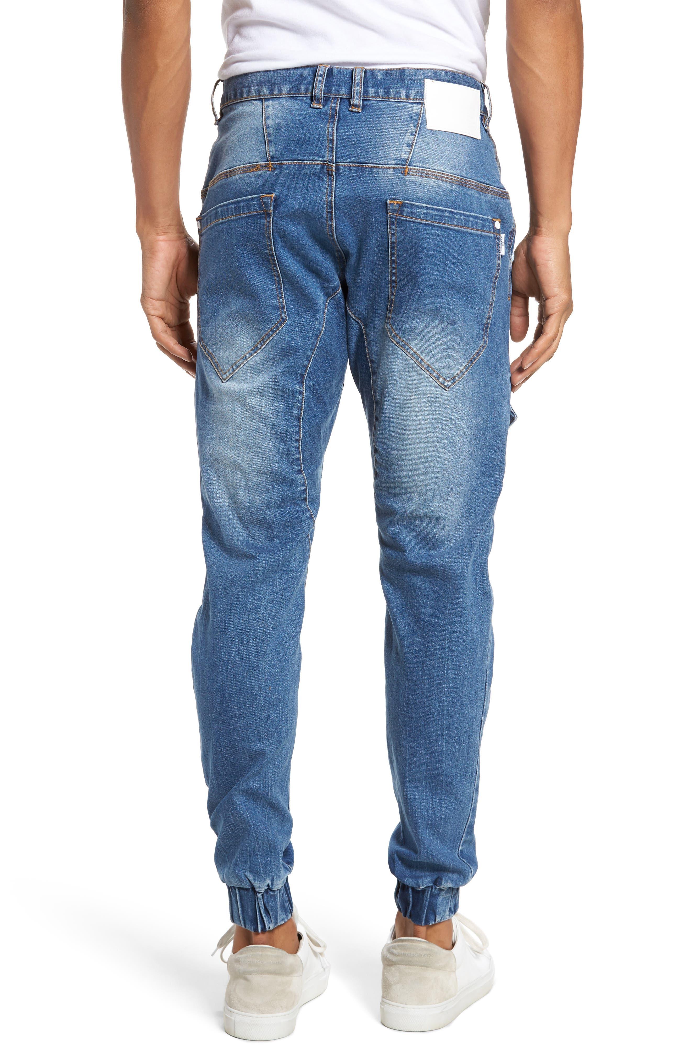 Flight Skinny Denim Jogger Pants,                             Alternate thumbnail 2, color,                             Lincoln Blue