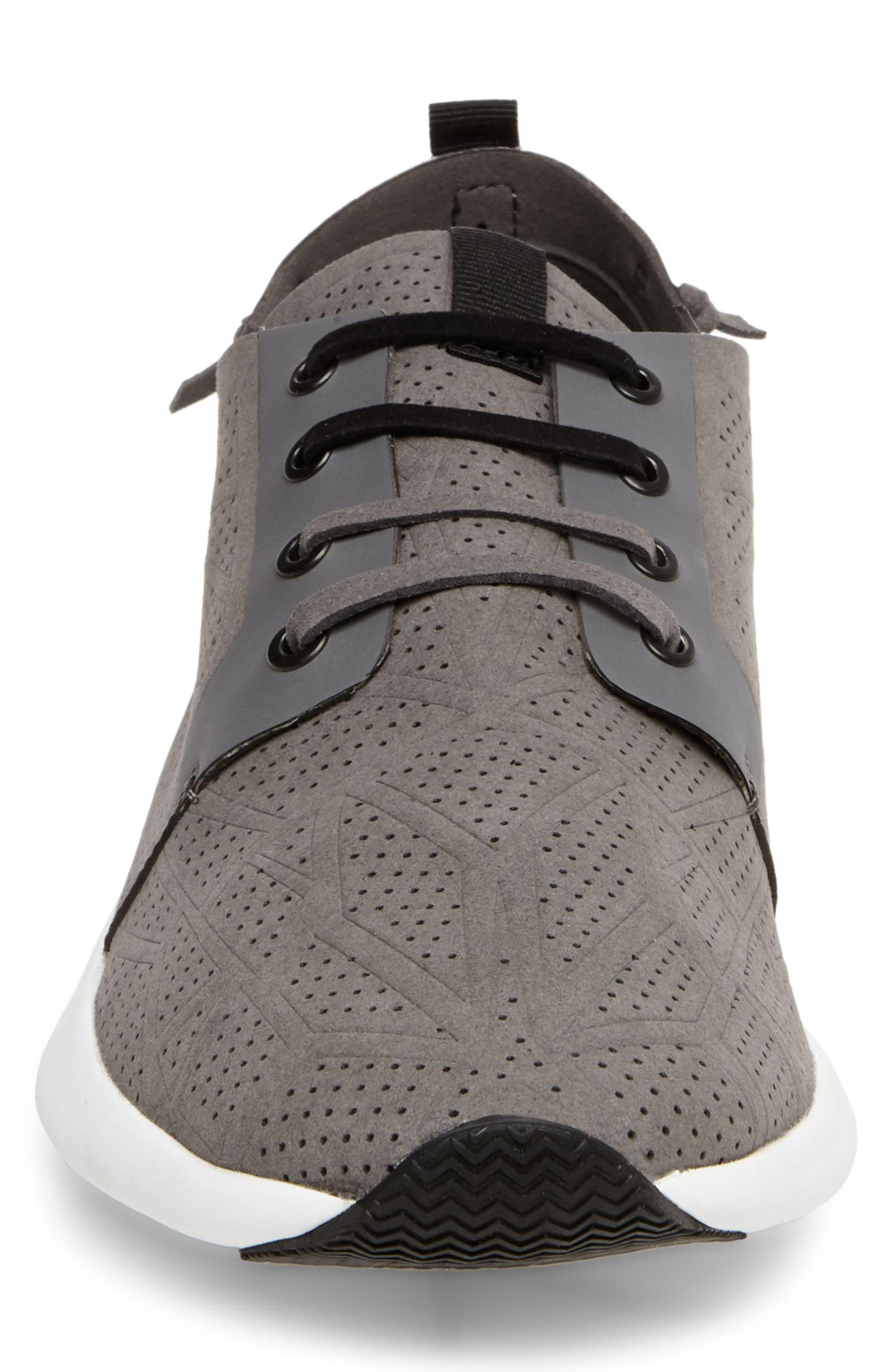 Batali Perforated Sneaker,                             Alternate thumbnail 4, color,                             Grey