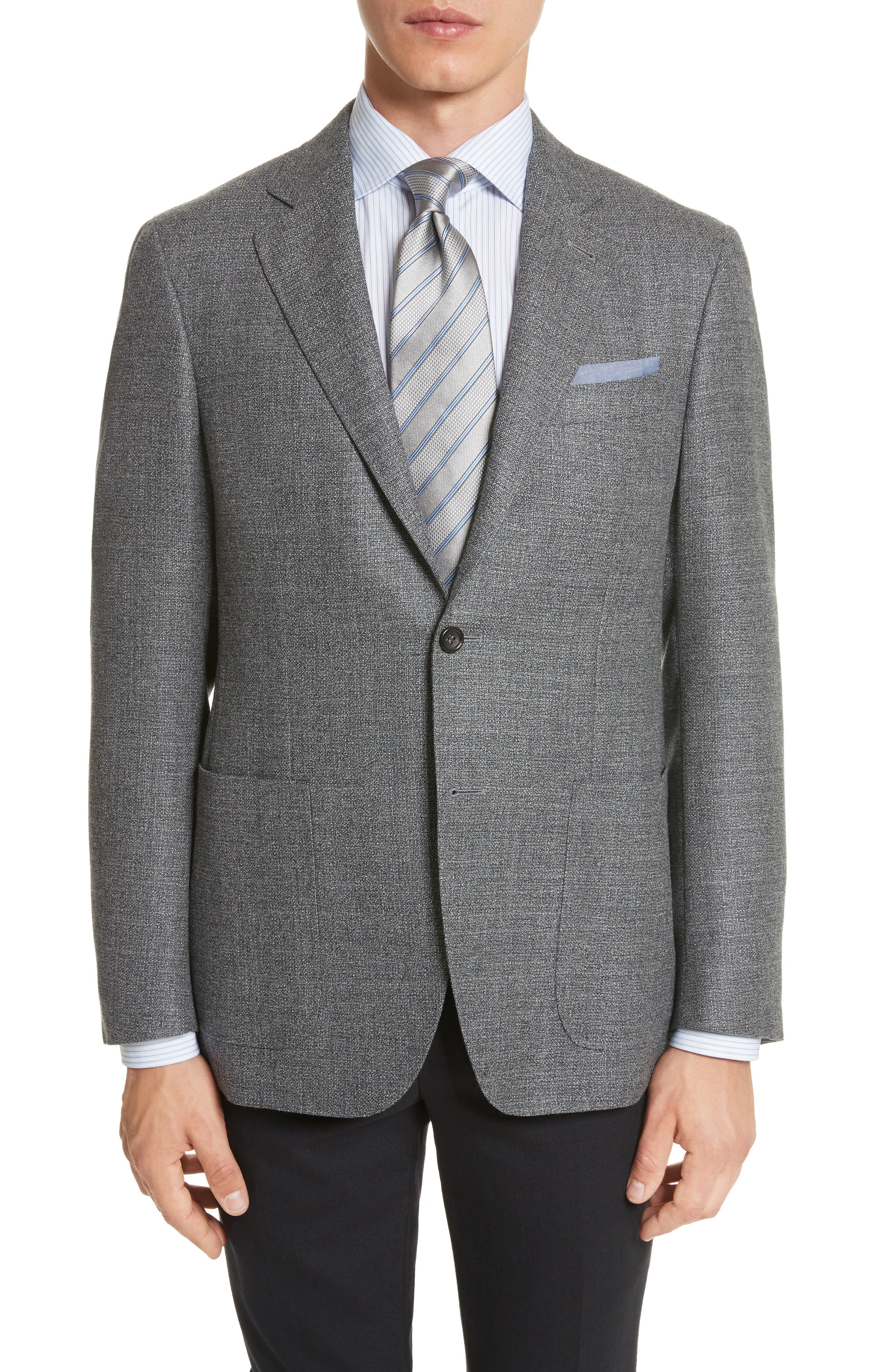 Kei Classic Fit Wool Blazer,                         Main,                         color, Grey