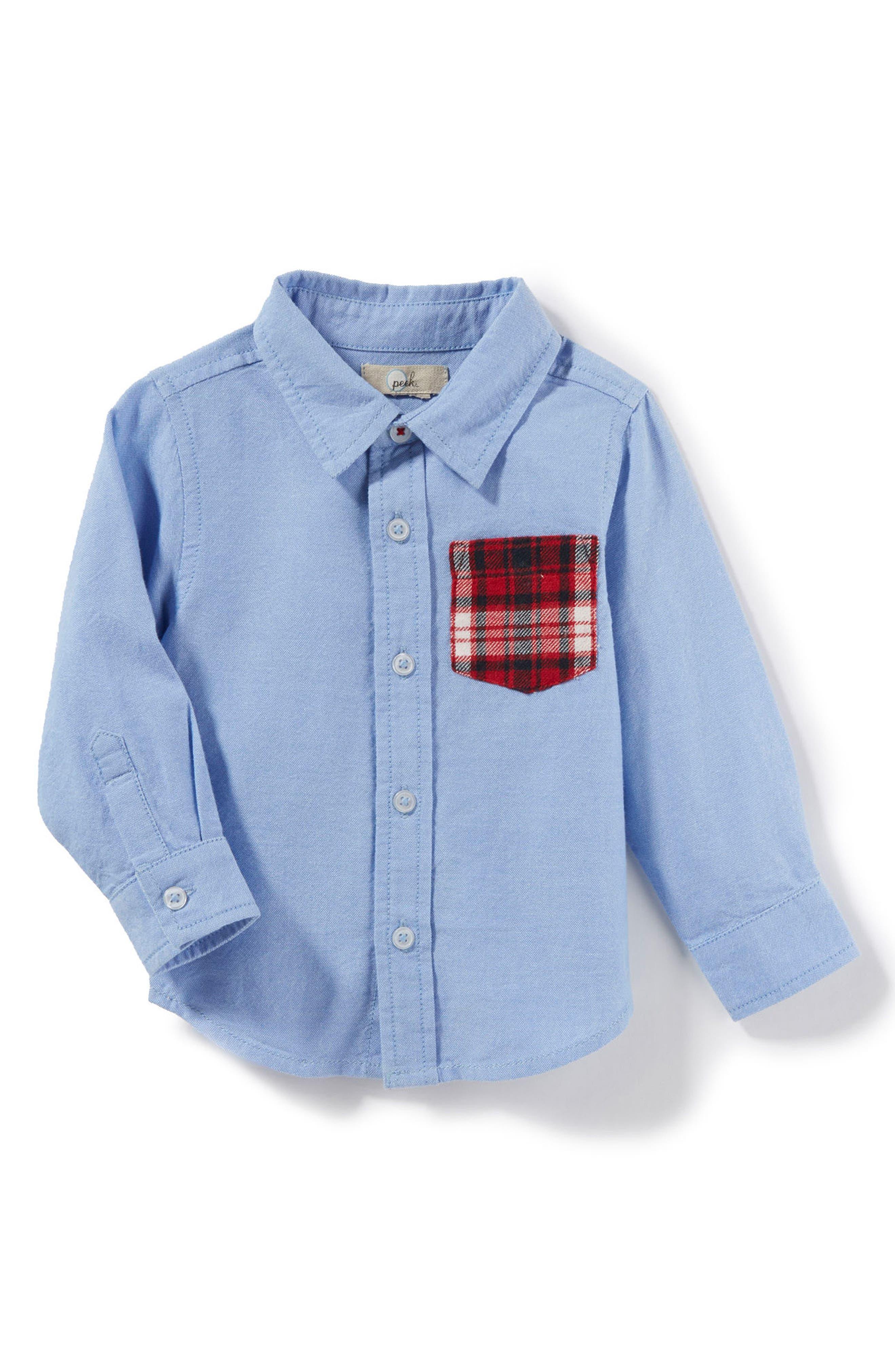 Alternate Image 1 Selected - Peek Johnny Oxford Shirt (Baby Boys)