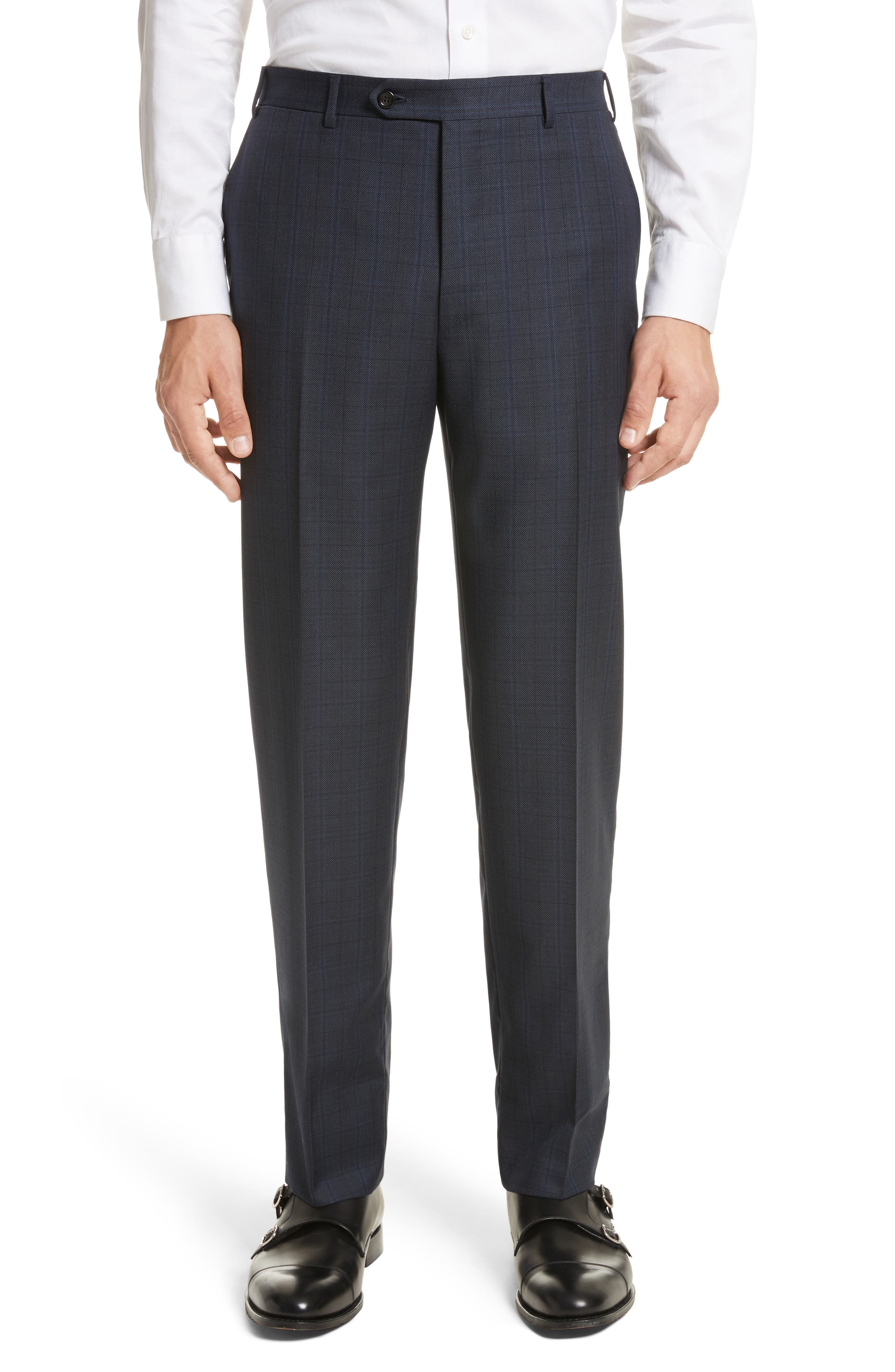 Alternate Image 6  - Canali Classic Fit Check Wool Suit