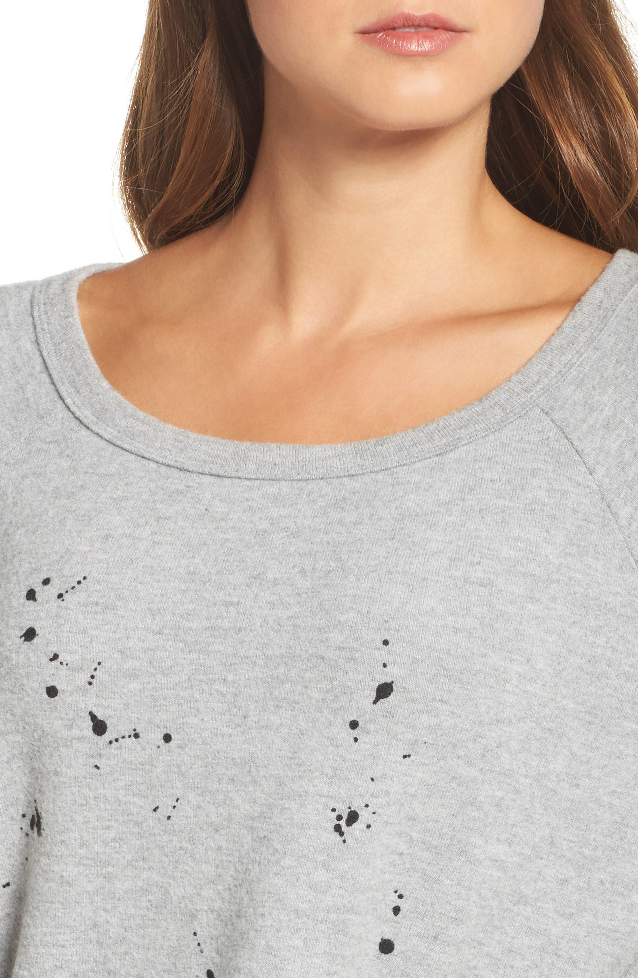 Kenny Splatter Lounge Sweatshirt,                             Alternate thumbnail 6, color,                             Heather Grey