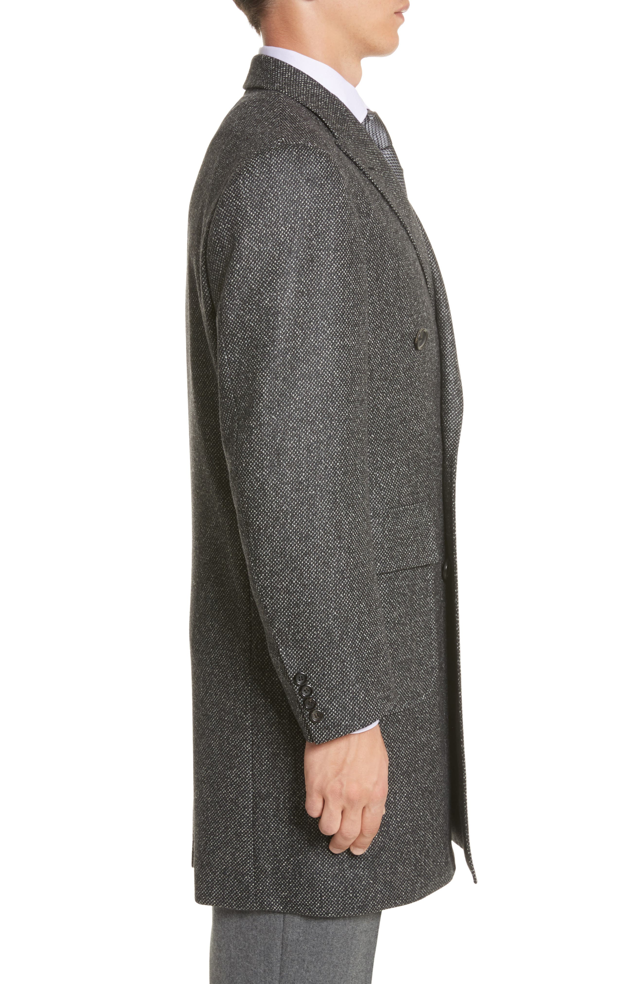 Alternate Image 3  - Canali Classic Fit Wool Topcoat