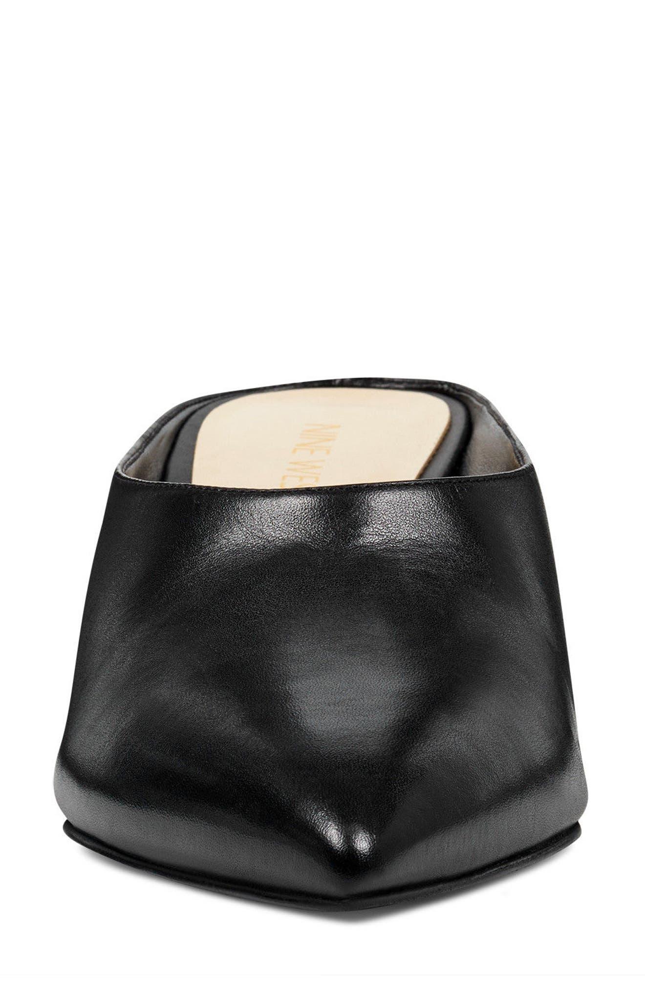 Helmer Mule,                             Alternate thumbnail 4, color,                             Black Leather