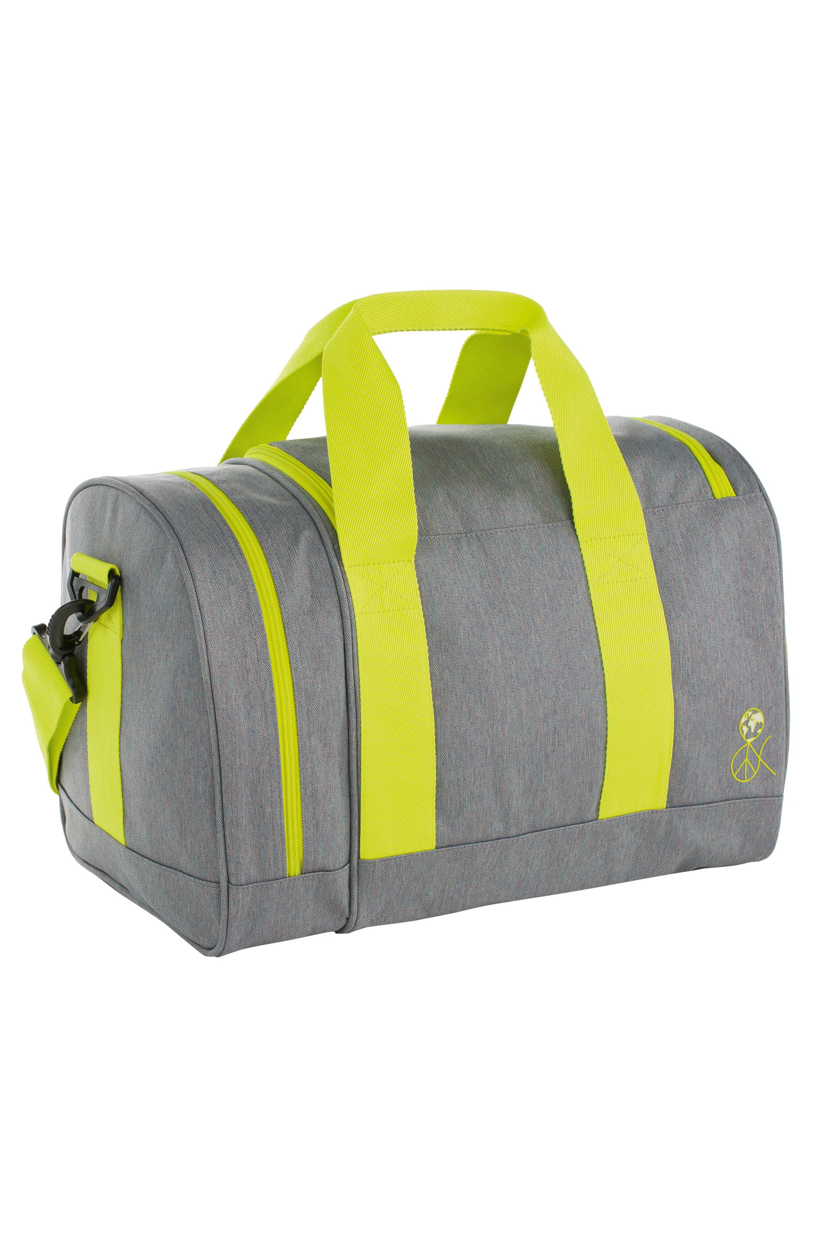 Mini About Friends Duffel Bag,                             Alternate thumbnail 2, color,                             Melange Grey