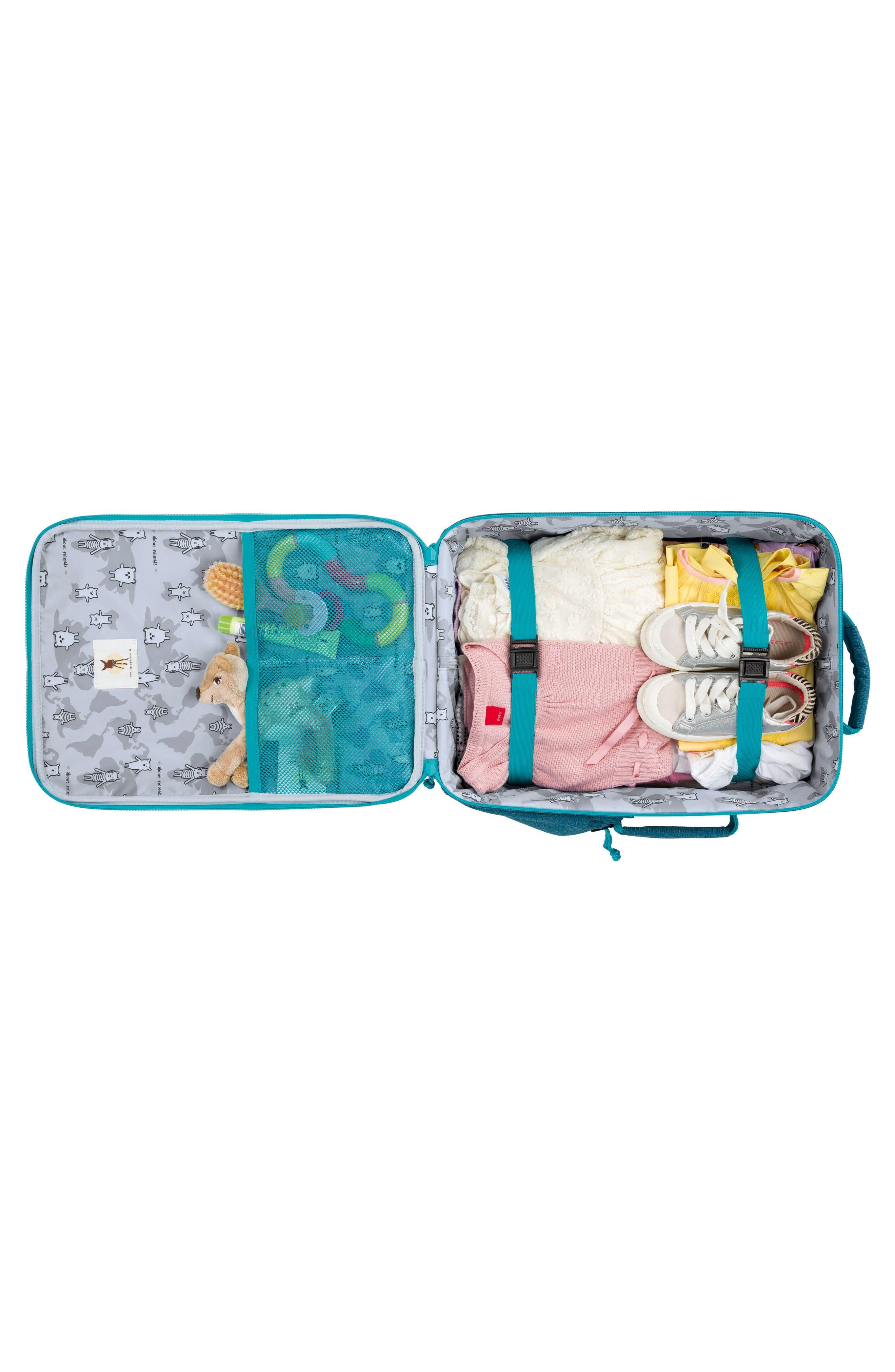 About Friends Rolling Suitcase,                             Alternate thumbnail 3, color,                             Melange Blue