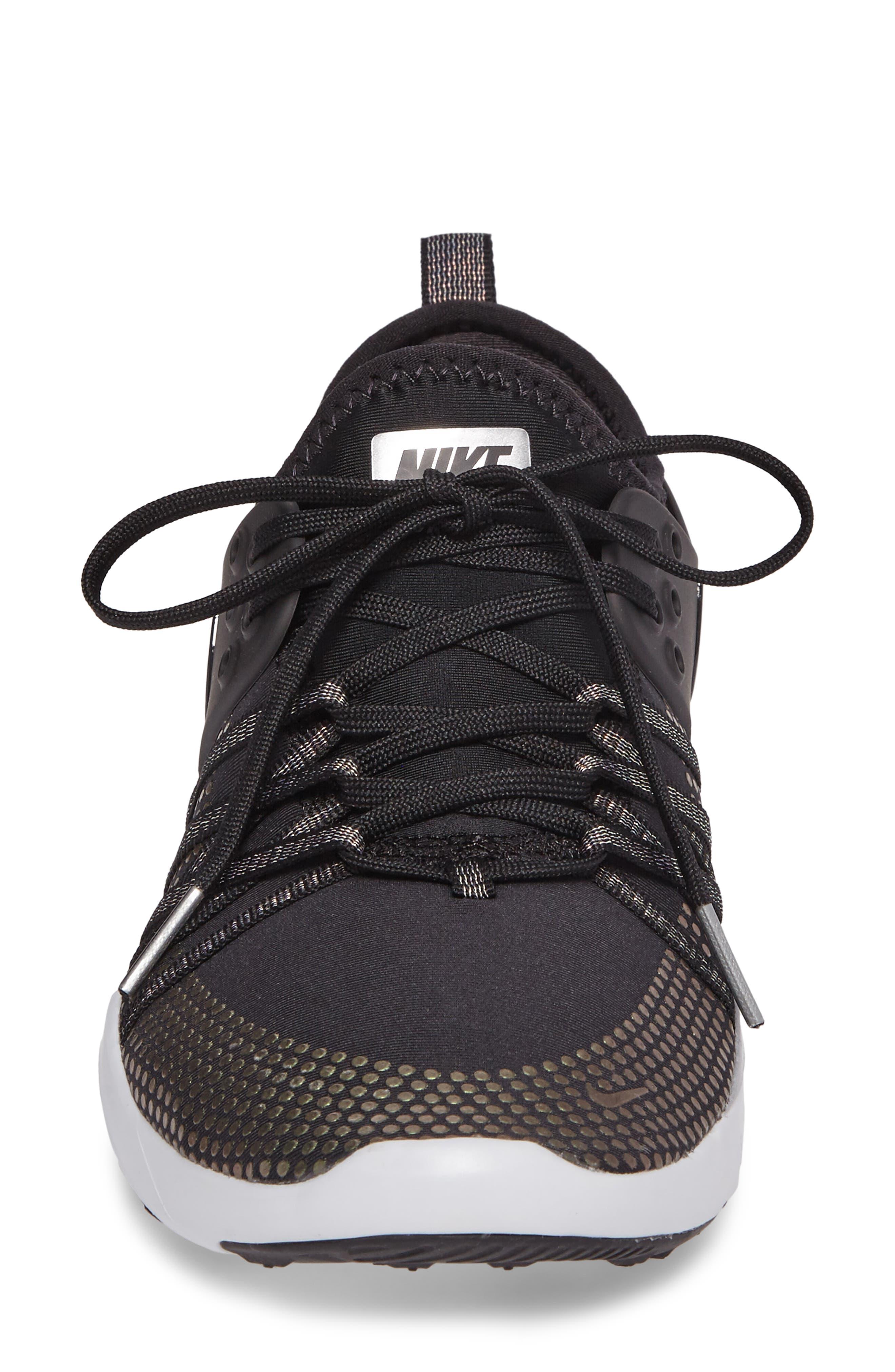 Free TR 7 Metallic Training Shoe,                             Alternate thumbnail 4, color,                             Black/ Black/ Pure Platinum