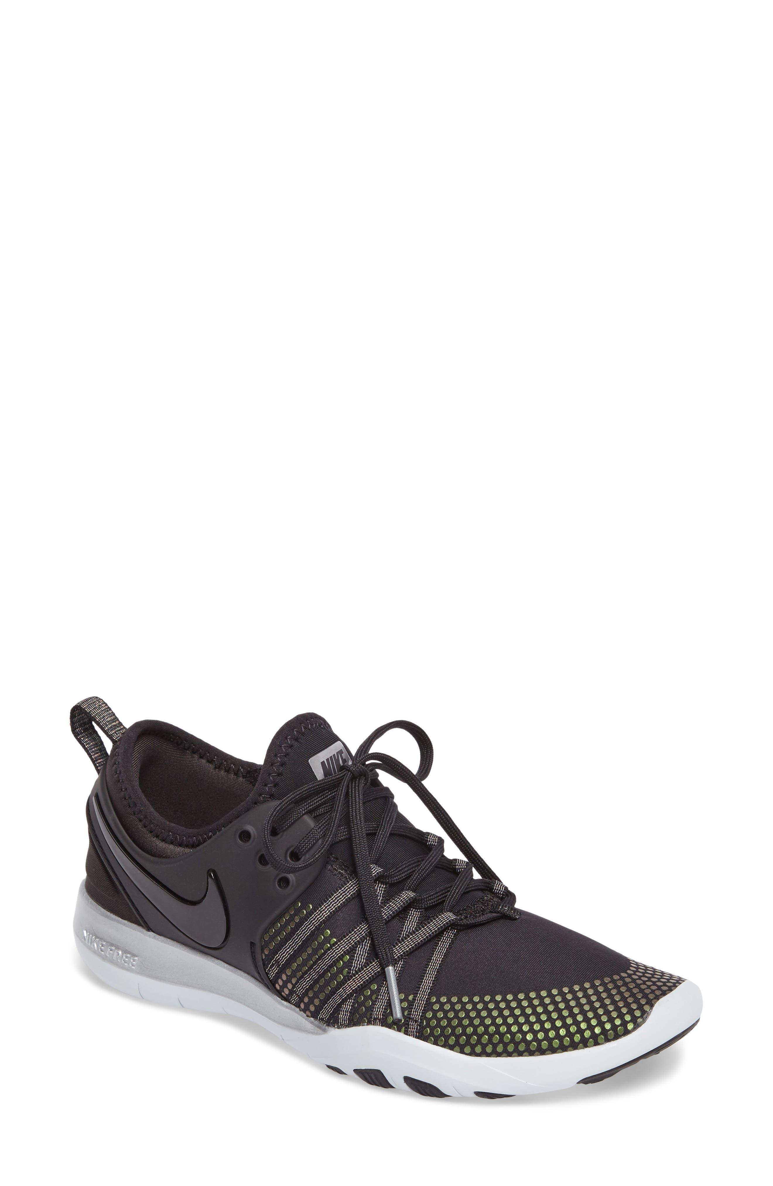 Free TR 7 Metallic Training Shoe,                         Main,                         color, Black/ Black/ Pure Platinum
