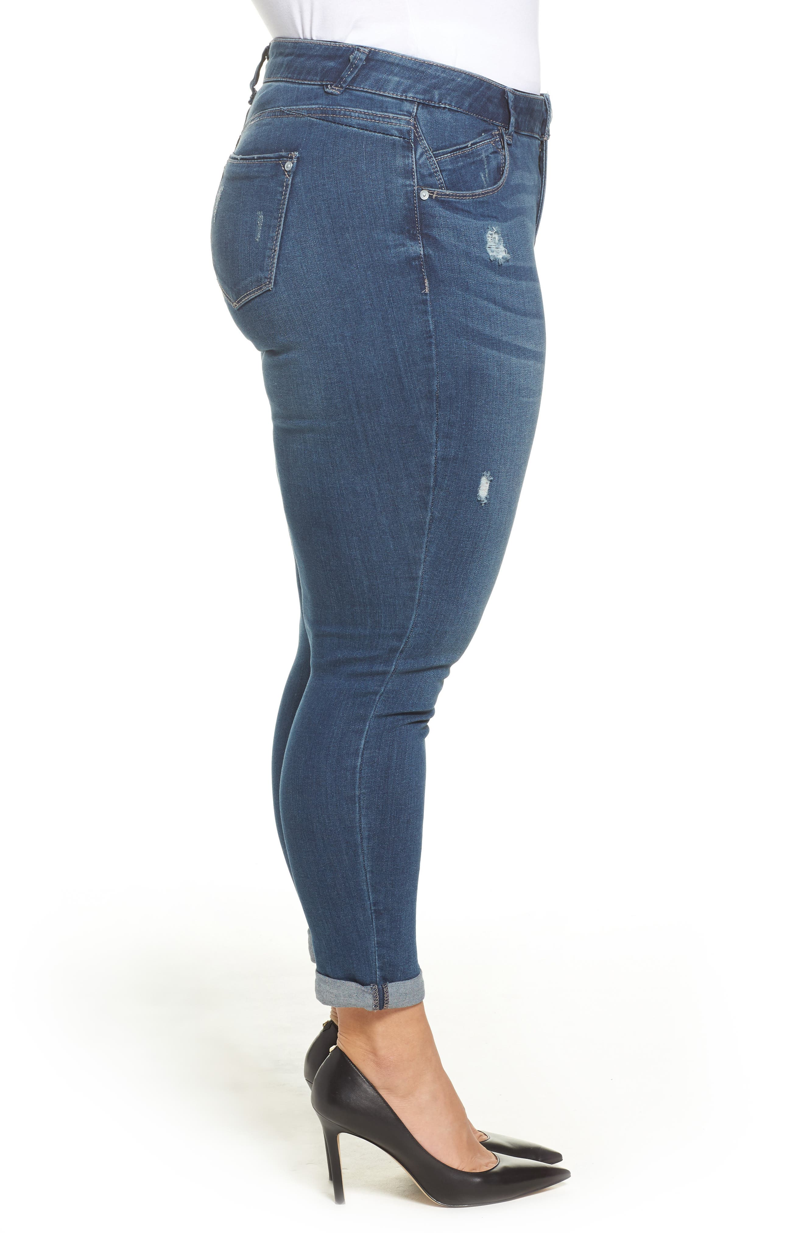 Alternate Image 3  - Wit & Wisdom Ab-solution Boyfriend Ankle Jeans (Plus Size) (Nordstrom Exclusive)