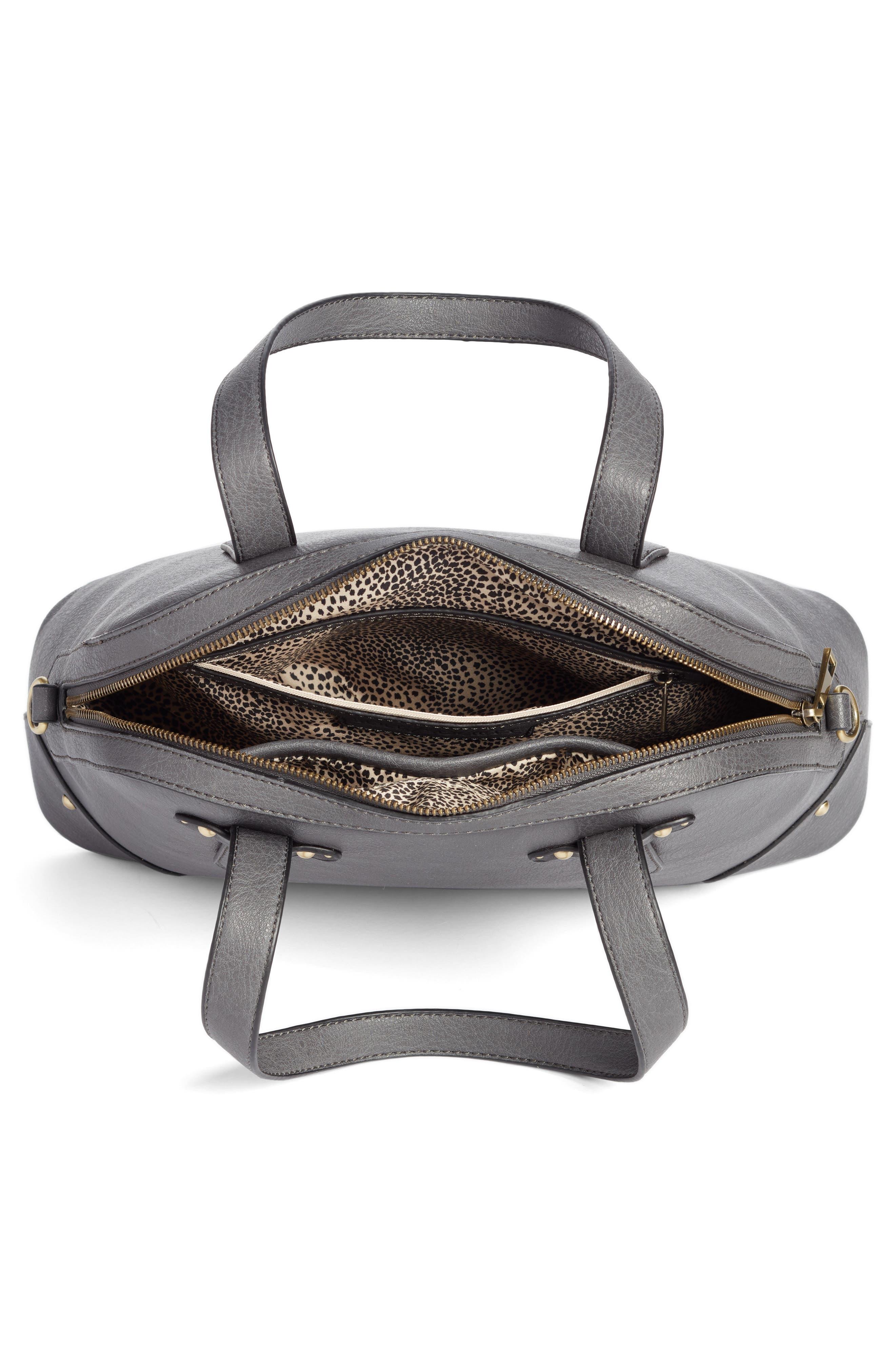 Christie Faux Leather Satchel,                             Alternate thumbnail 2, color,                             Grey