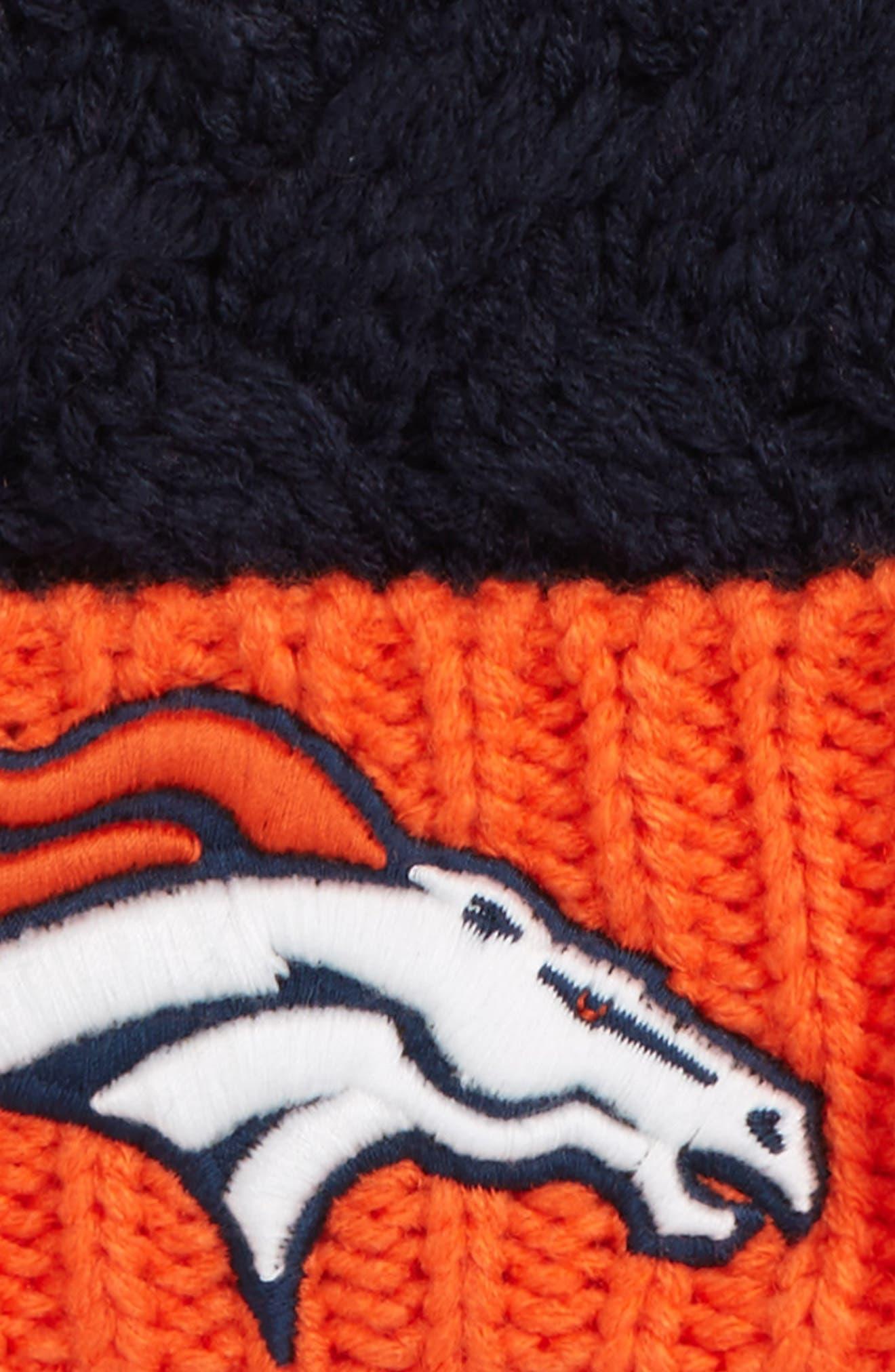 Matterhorn Denver Broncos Beanie,                             Alternate thumbnail 2, color,                             Navy