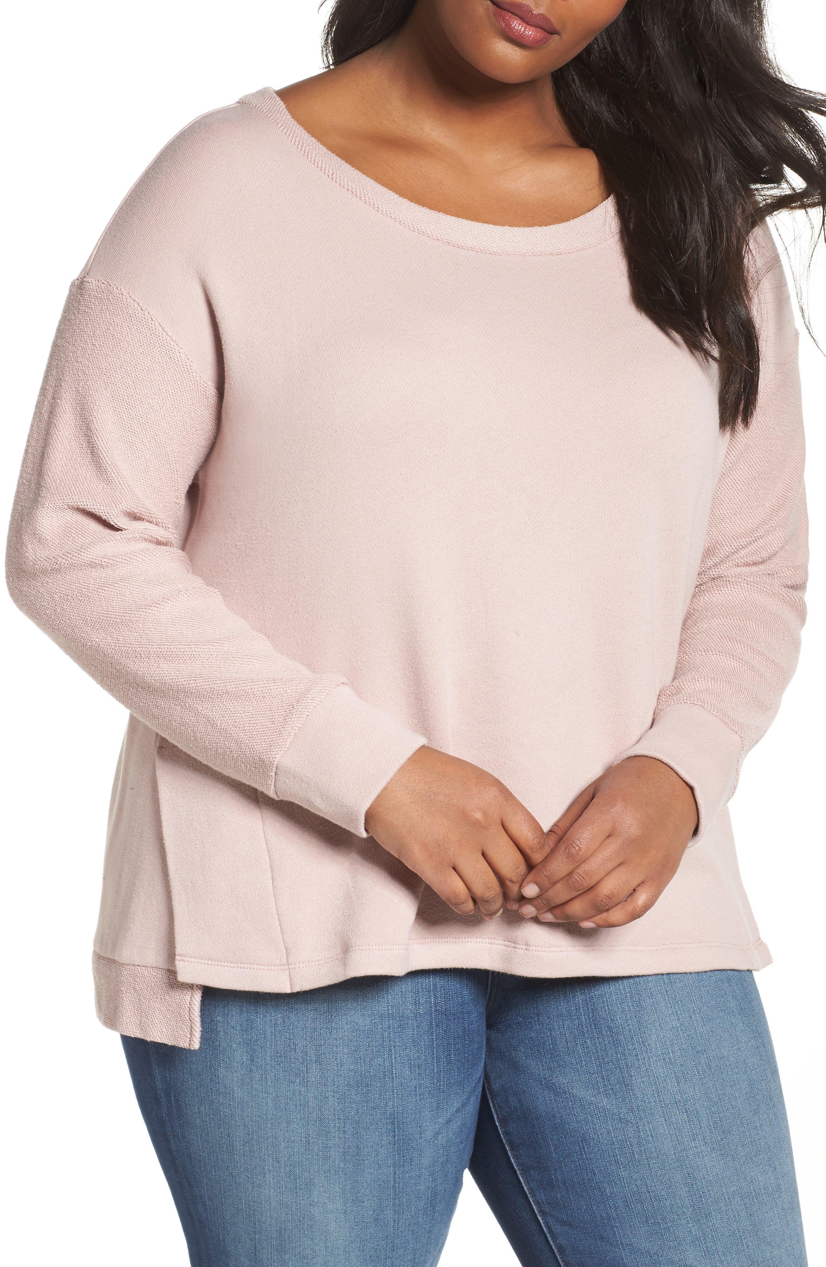 Main Image - Caslon® Relaxed Sweatshirt (Plus Size)