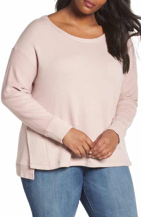 Caslon® Relaxed Sweatshirt (Plus Size)