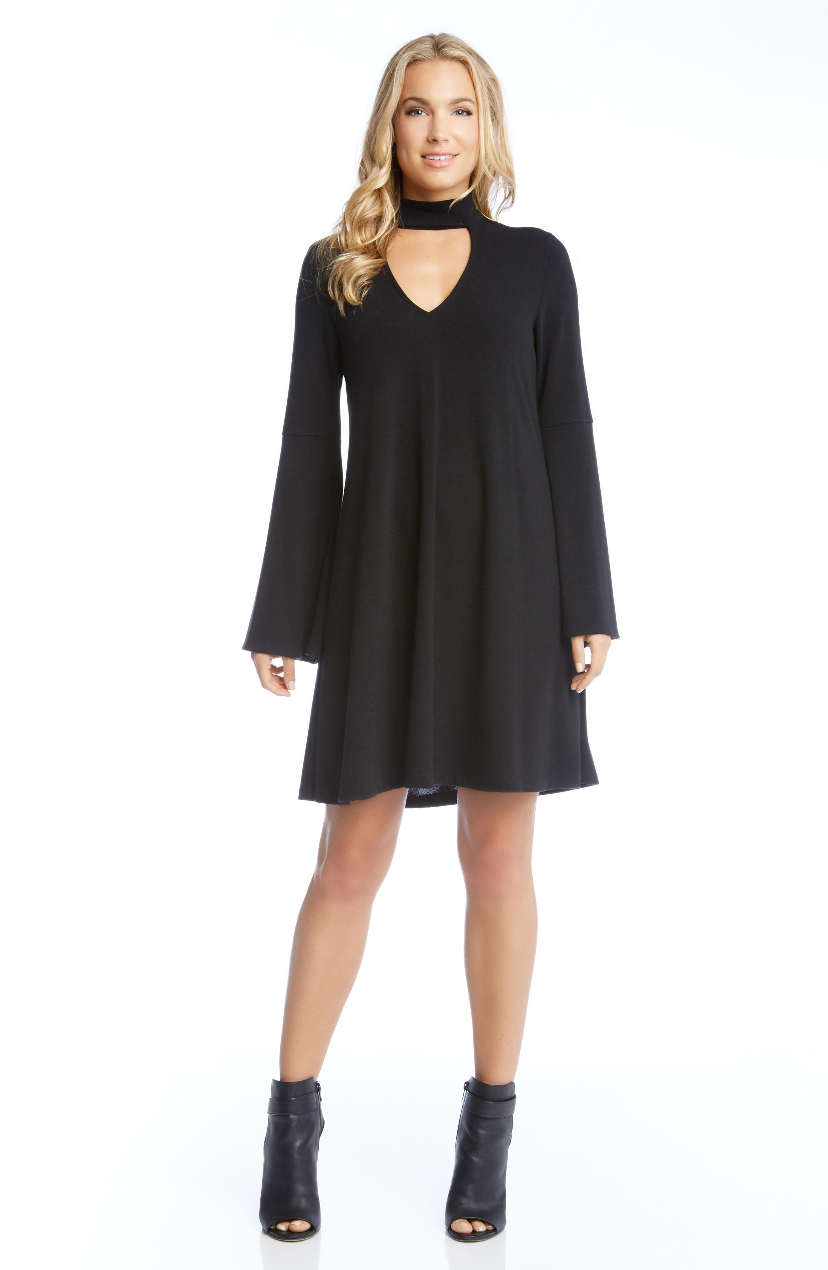 Alternate Image 2  - Karen Kane Taylor Choker Neck Dress