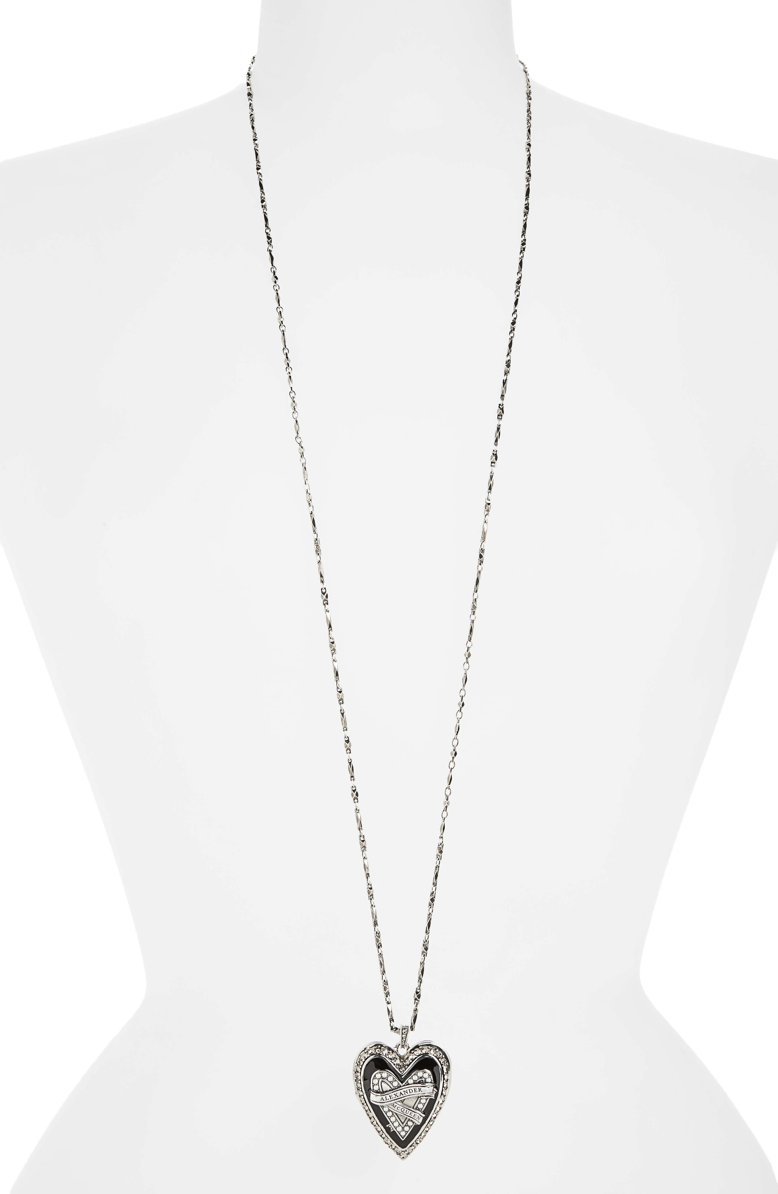 Main Image - Alexander McQueen Heart Pendant Necklace