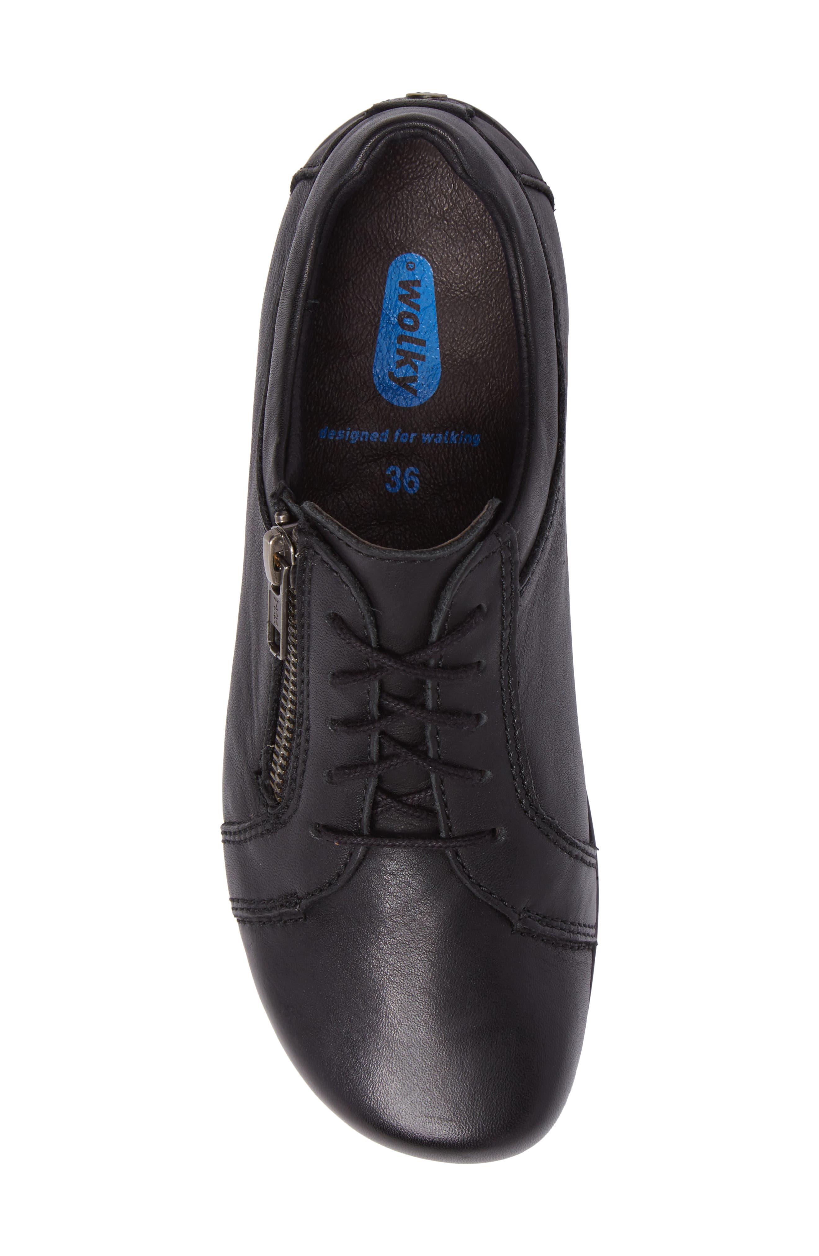 Bonnie Sneaker,                             Alternate thumbnail 5, color,                             Black Leather