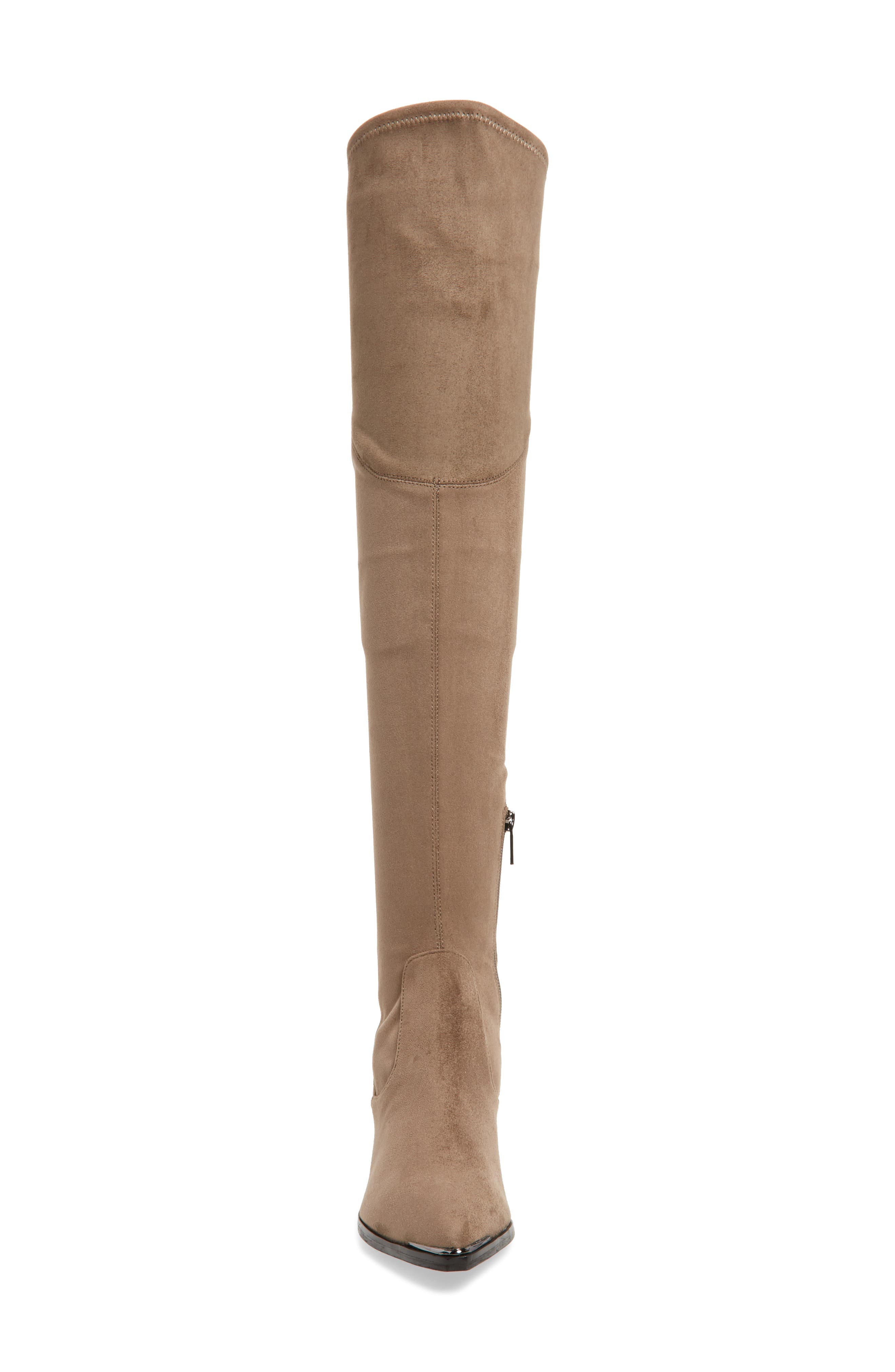 Yuna Over the Knee Boot,                             Alternate thumbnail 2, color,                             Taupe Faux Suede