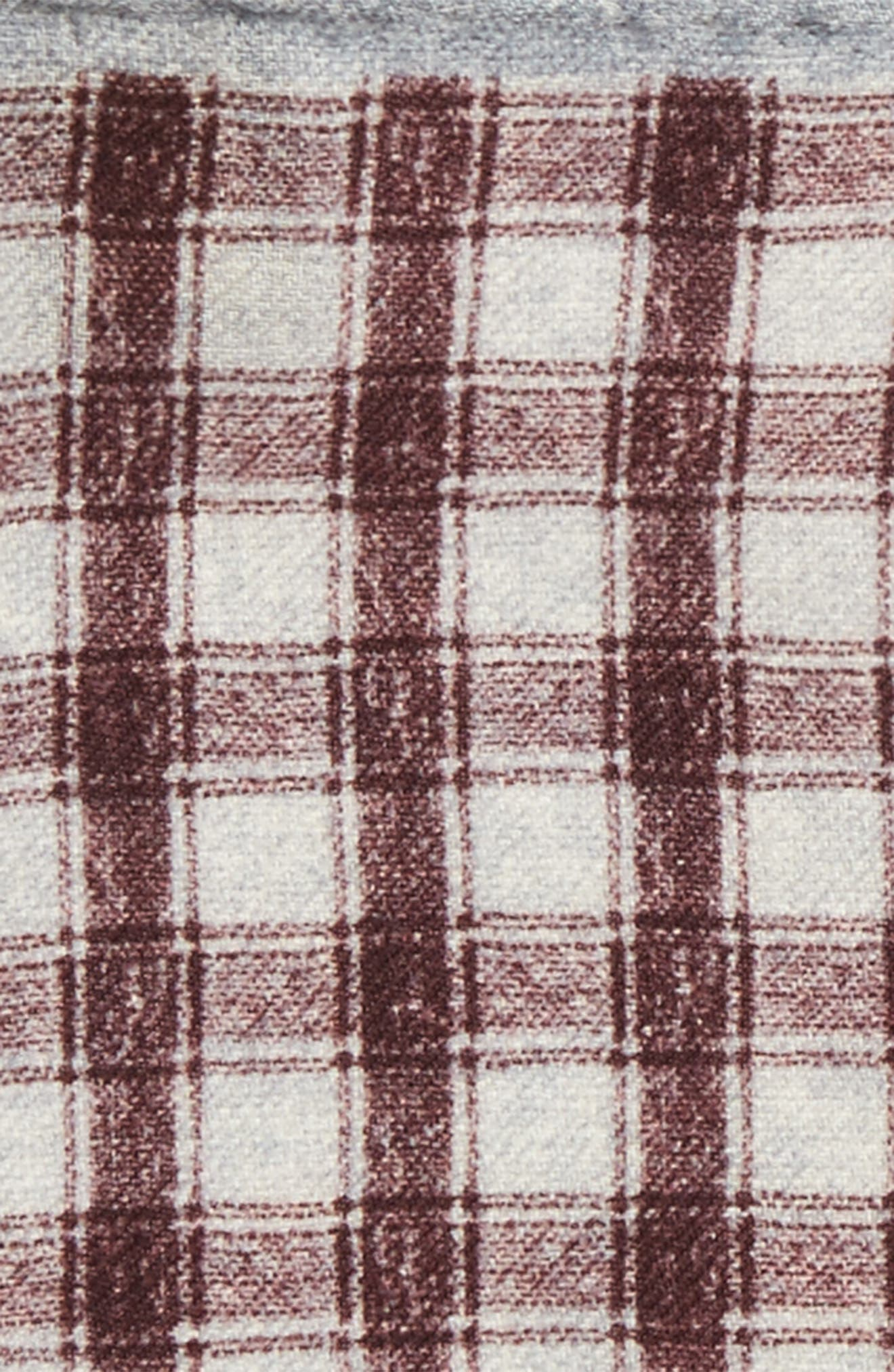 Check Wool Pocket Square,                             Alternate thumbnail 2, color,                             Red