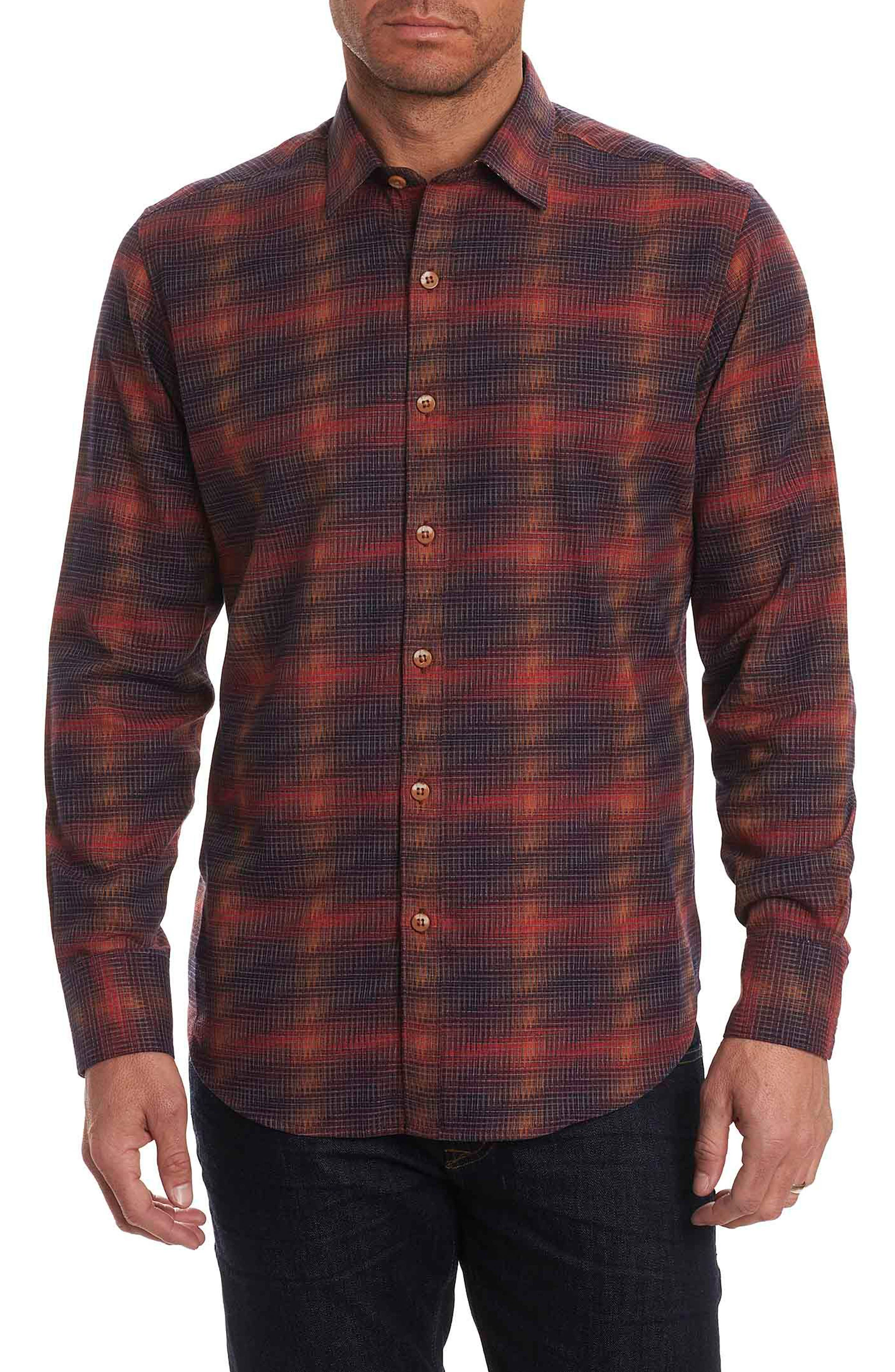 Robert Graham Plaid Classic Fit Flannel Sport Shirt