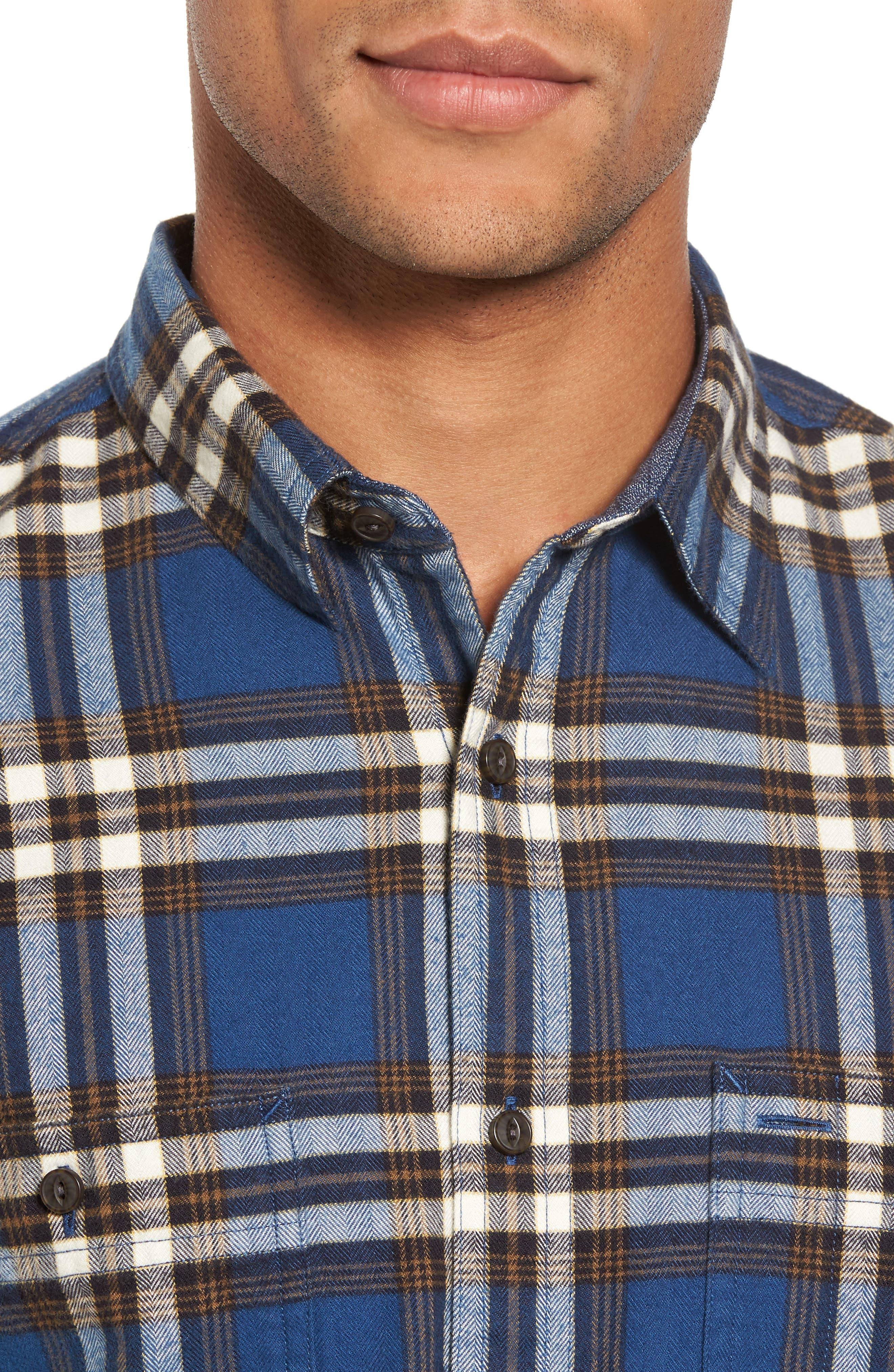 Alternate Image 4  - Nordstrom Men's Shop Trim Fit Workwear Check Flannel Shirt