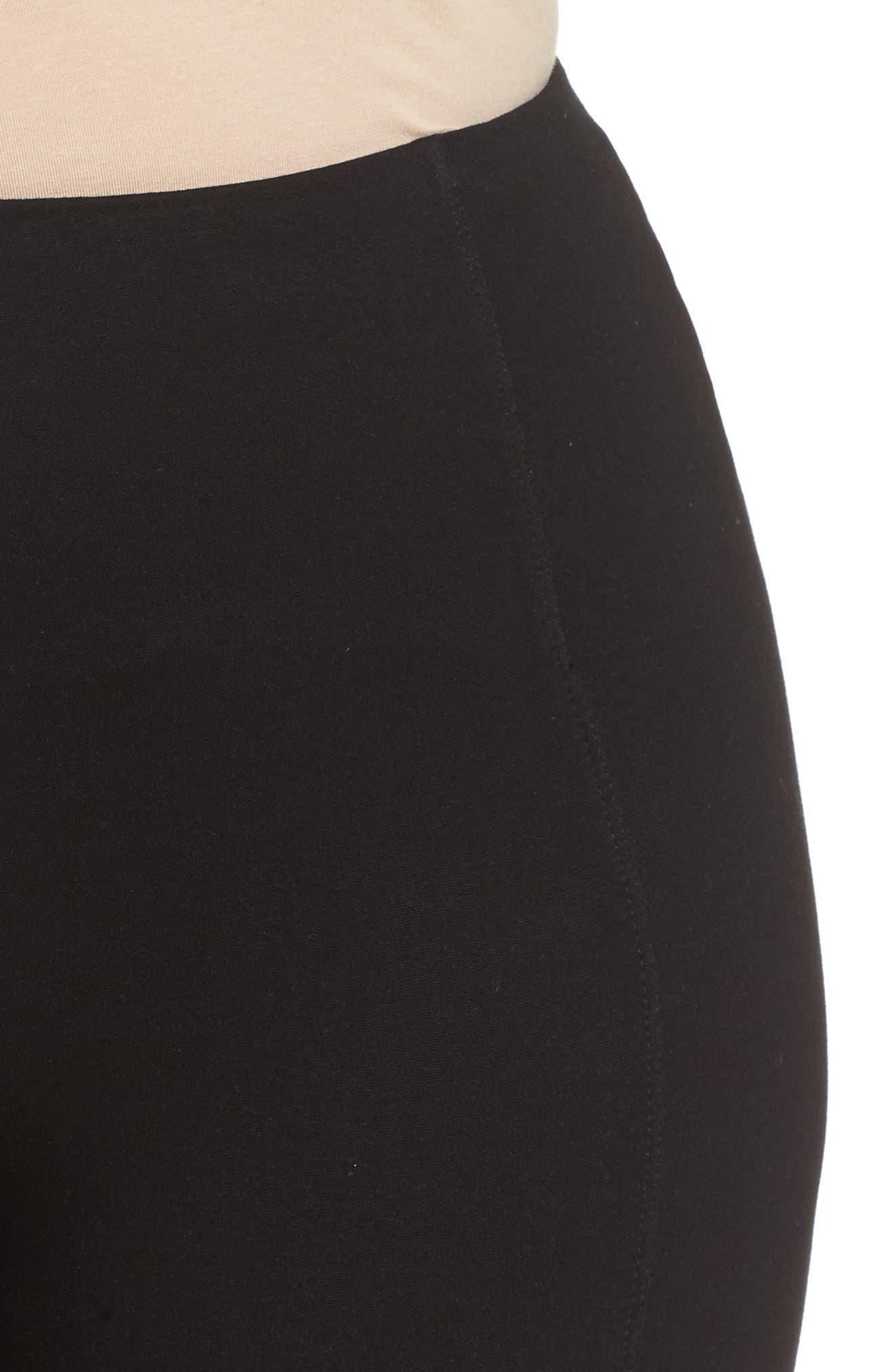 Mara Seamed Ponte Leggings,                             Alternate thumbnail 6, color,                             Black