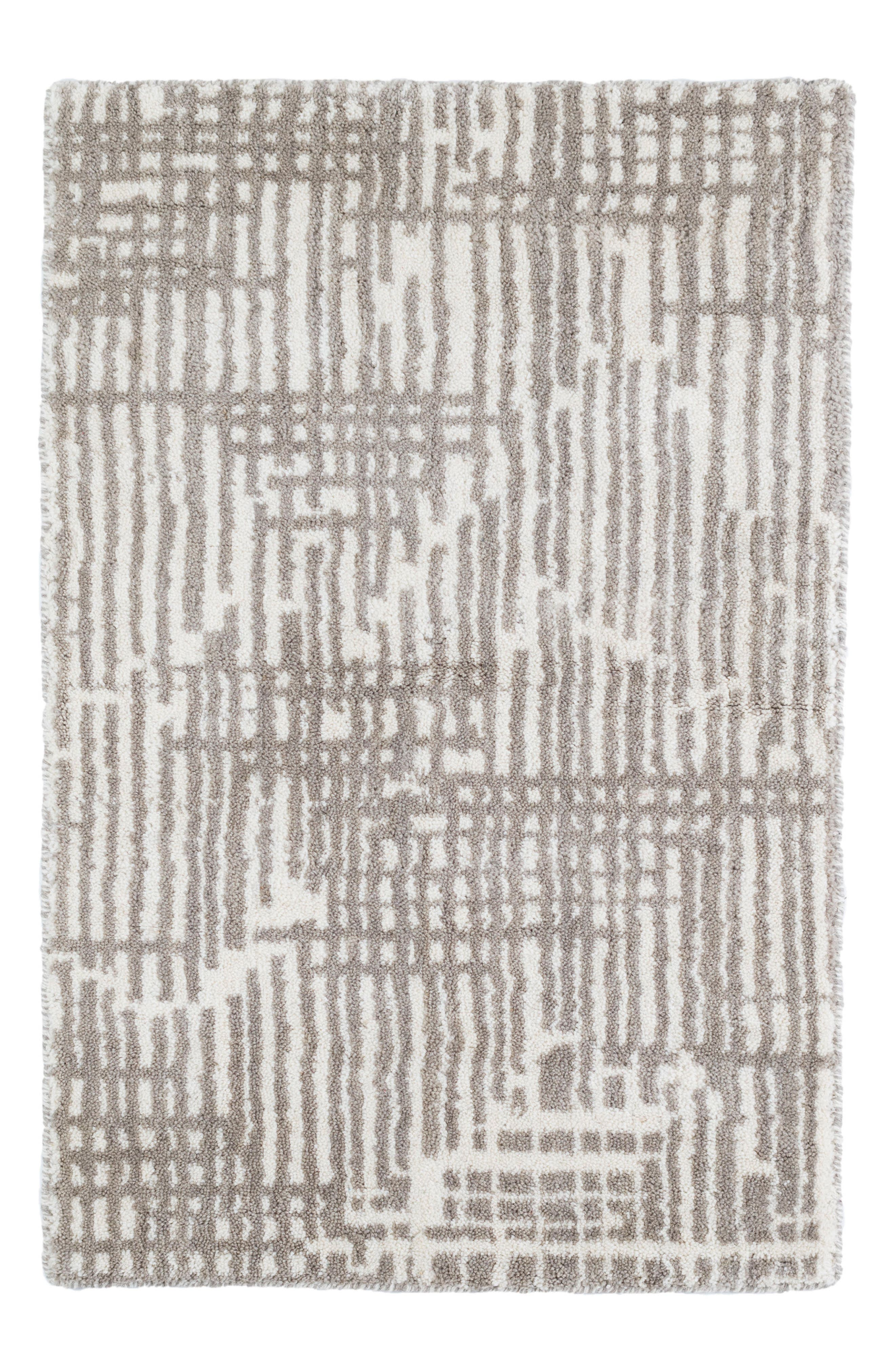 Main Image - Dash & Albert Wright Knotted Wool Rug