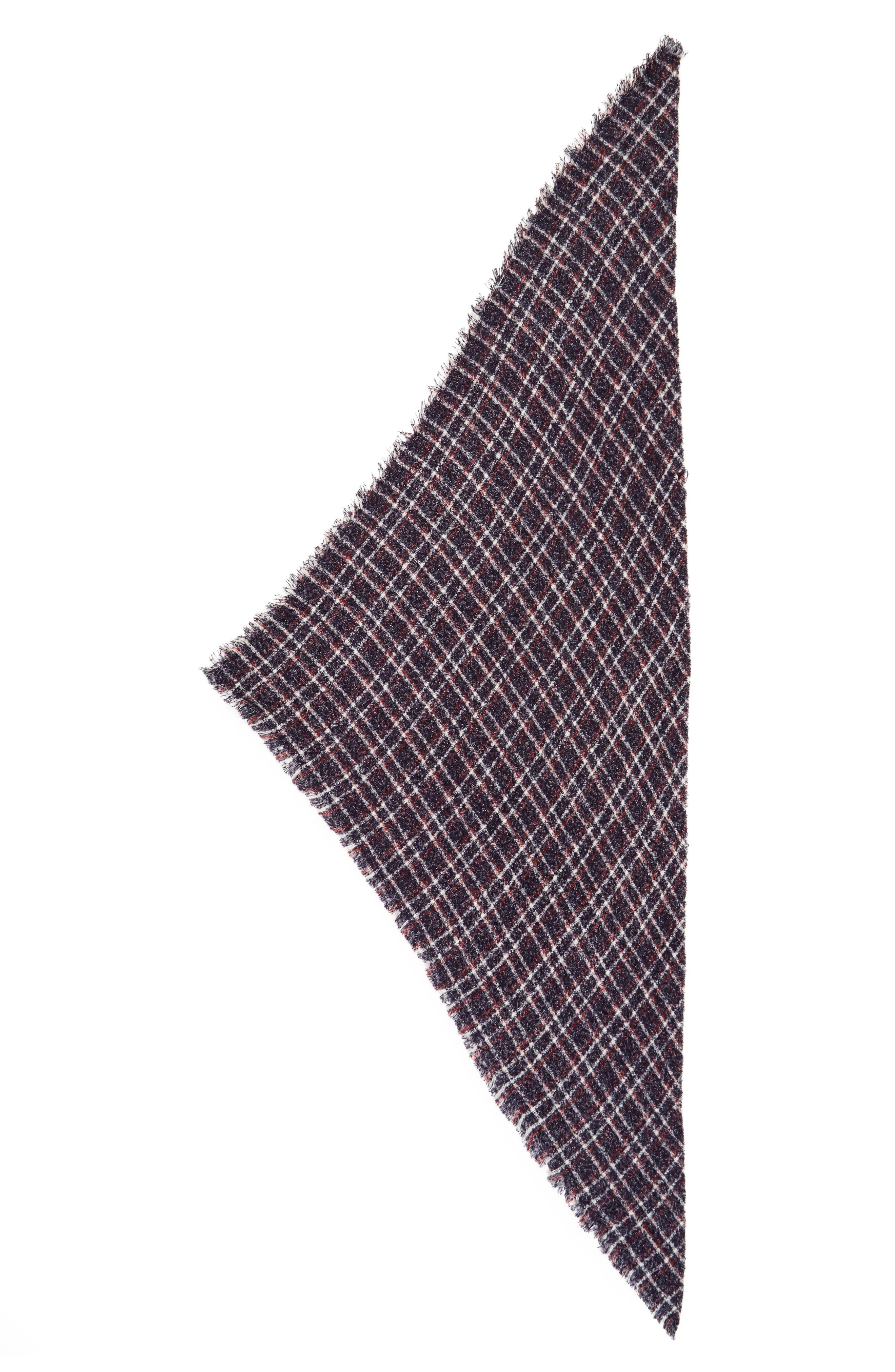 Alternate Image 2  - David & Young Bouclé Plaid Triangle Scarf