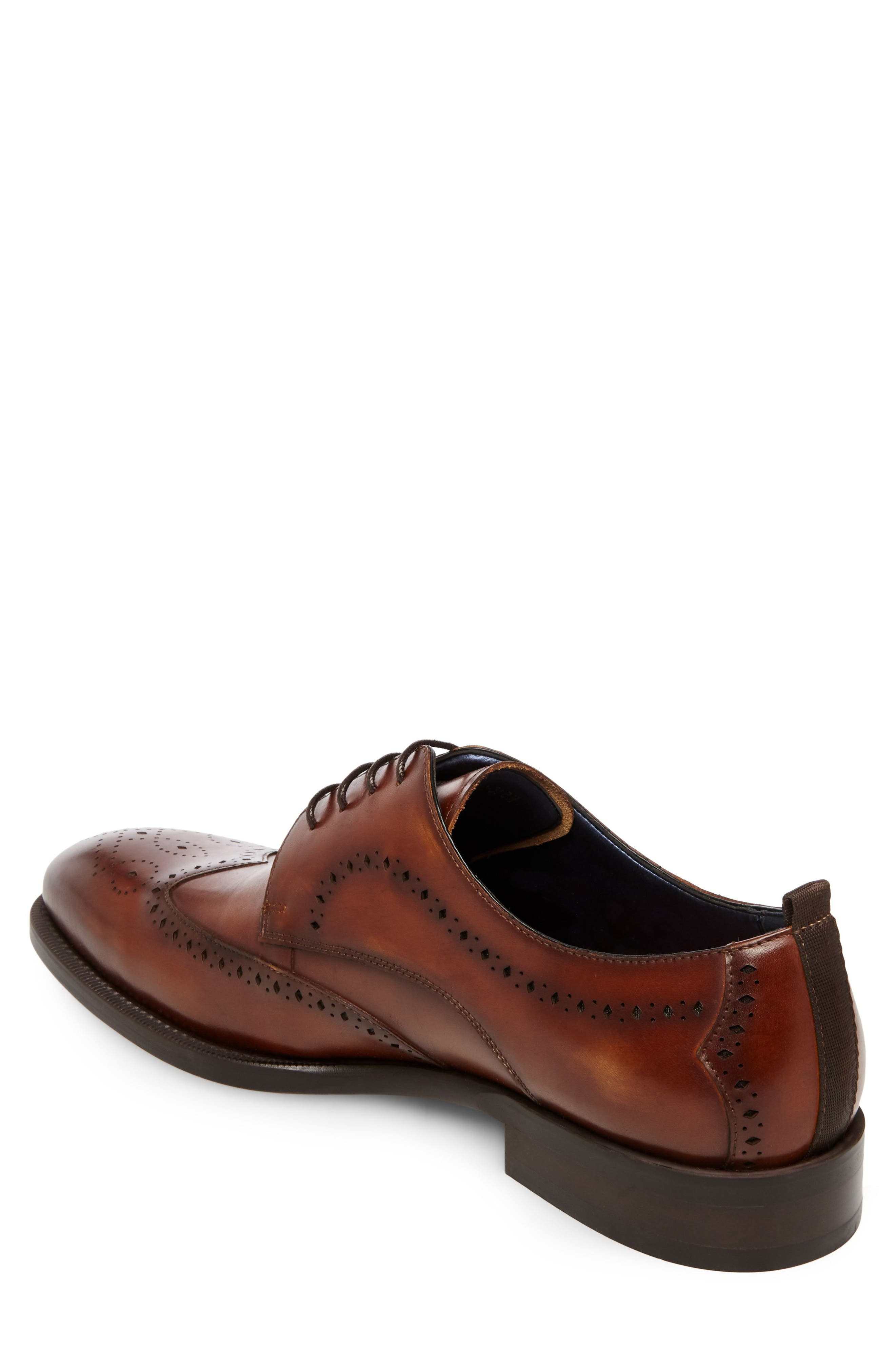 Candyd Wingtip,                             Alternate thumbnail 2, color,                             Brown Leather