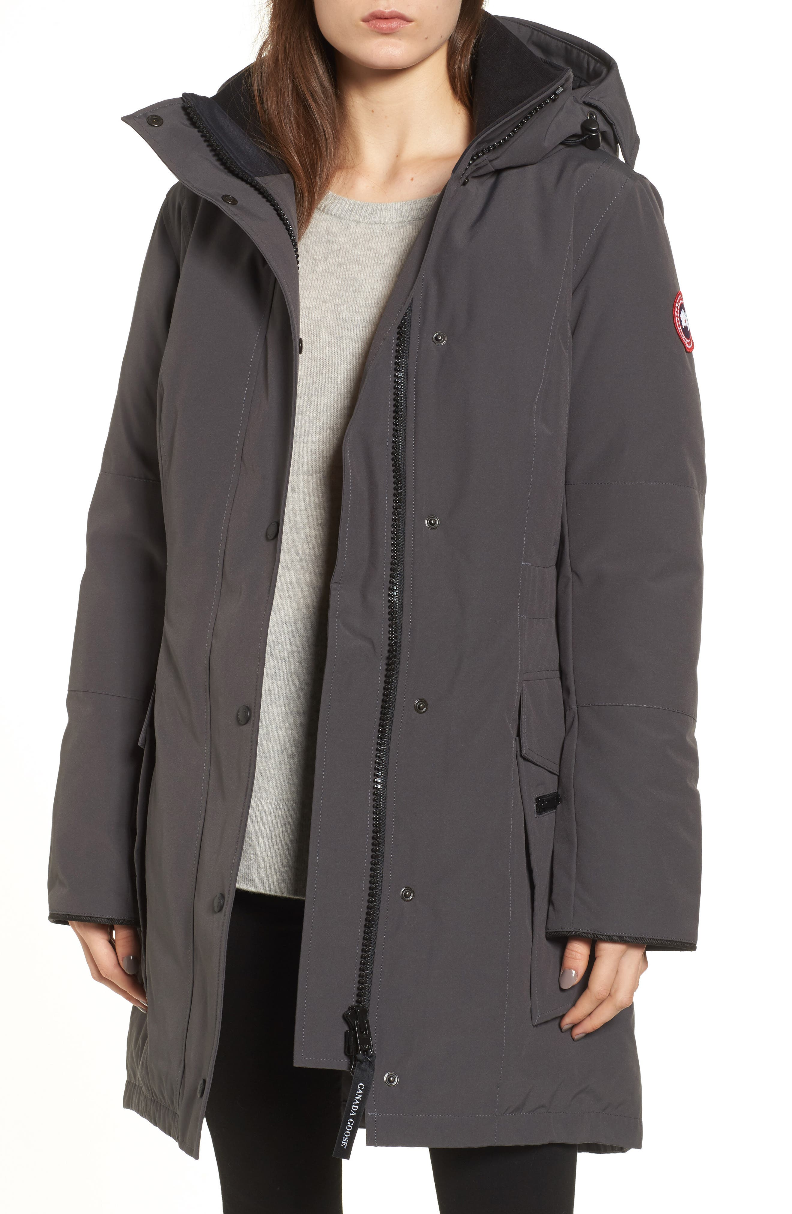 Kinley Insulated Parka,                             Main thumbnail 1, color,                             Graphite