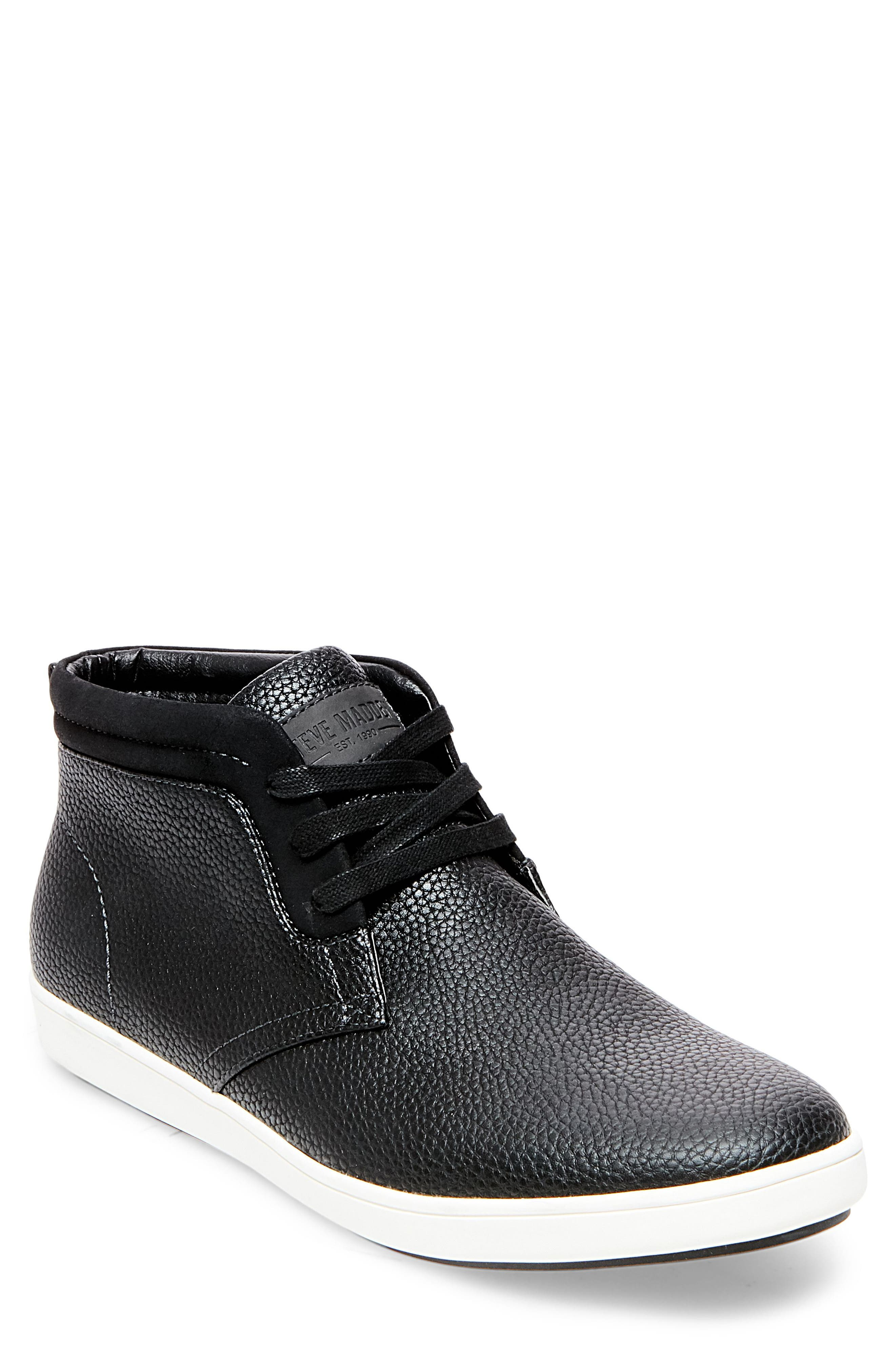Fenway Sneaker,                         Main,                         color, Black Leather