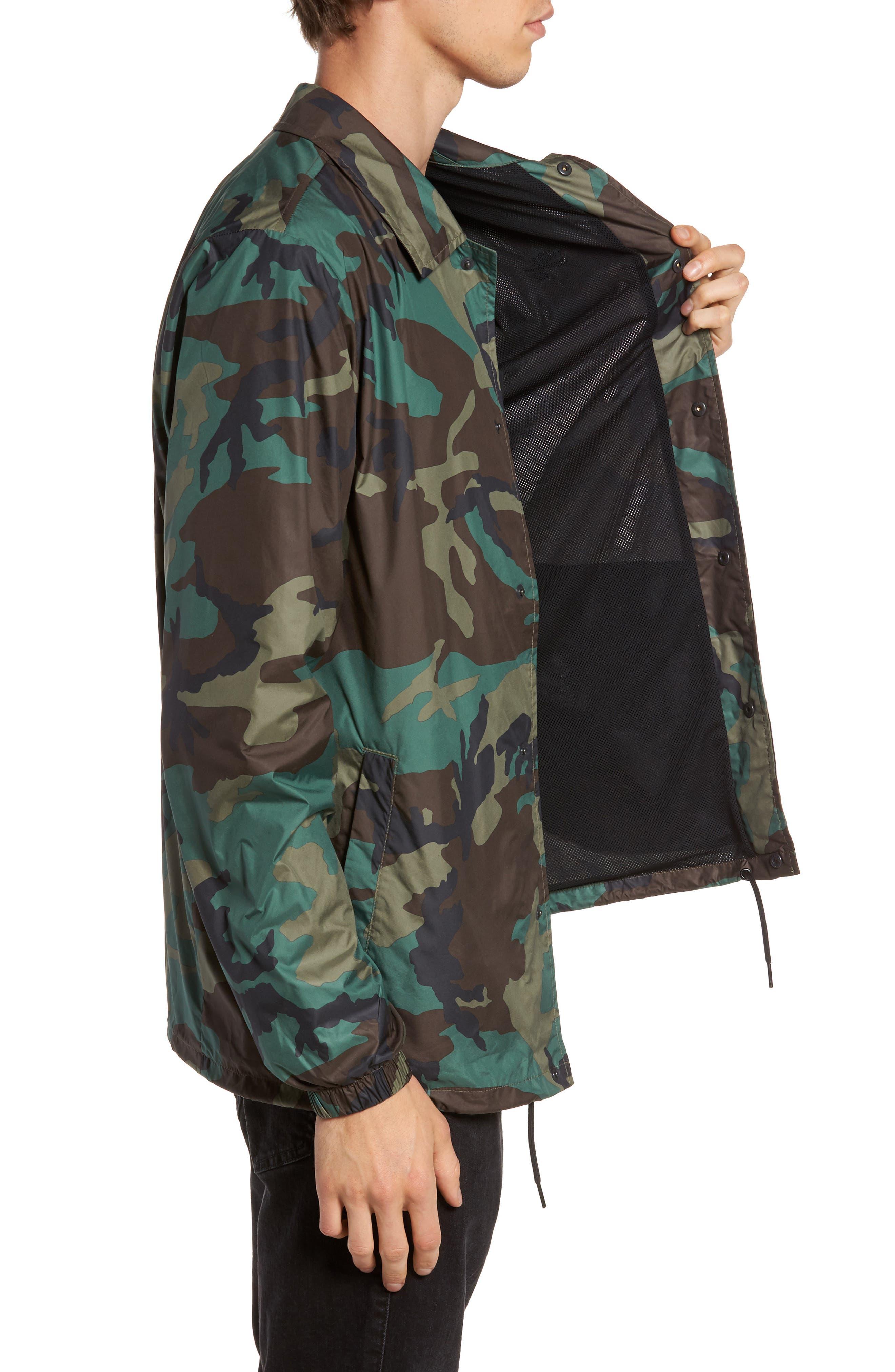 Shield Coach's Jacket,                             Alternate thumbnail 3, color,                             Medium Olive/ Black