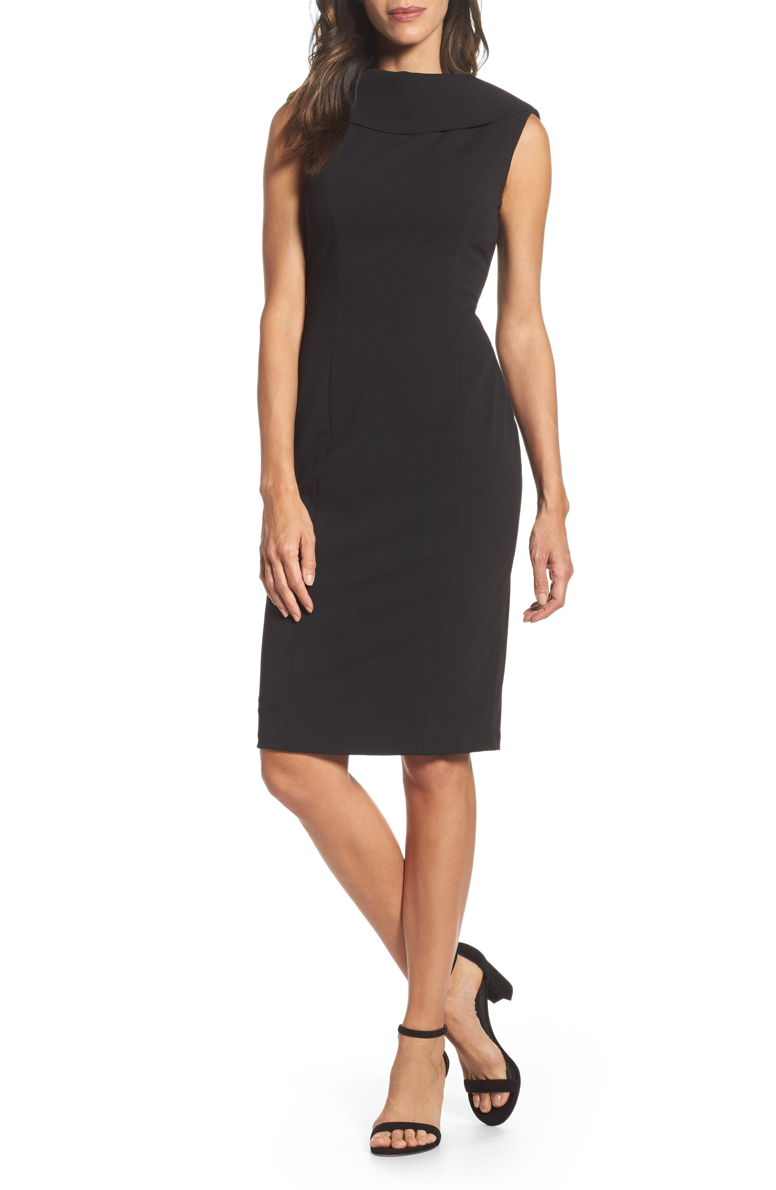 Main Image - Adrianna Papell Roll Neck Sheath