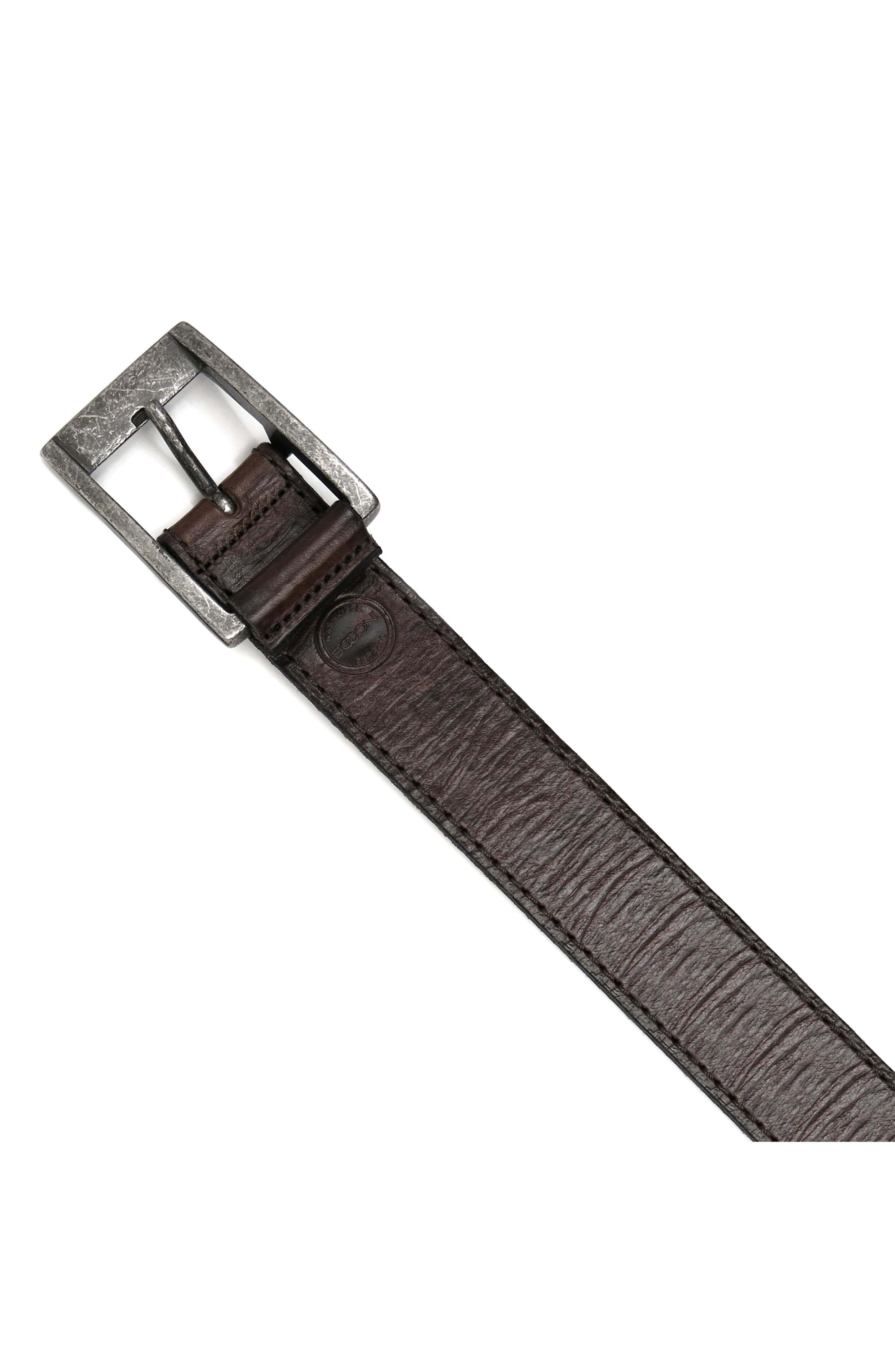 Main Image - Boconi Burnished Calfskin Leather Belt