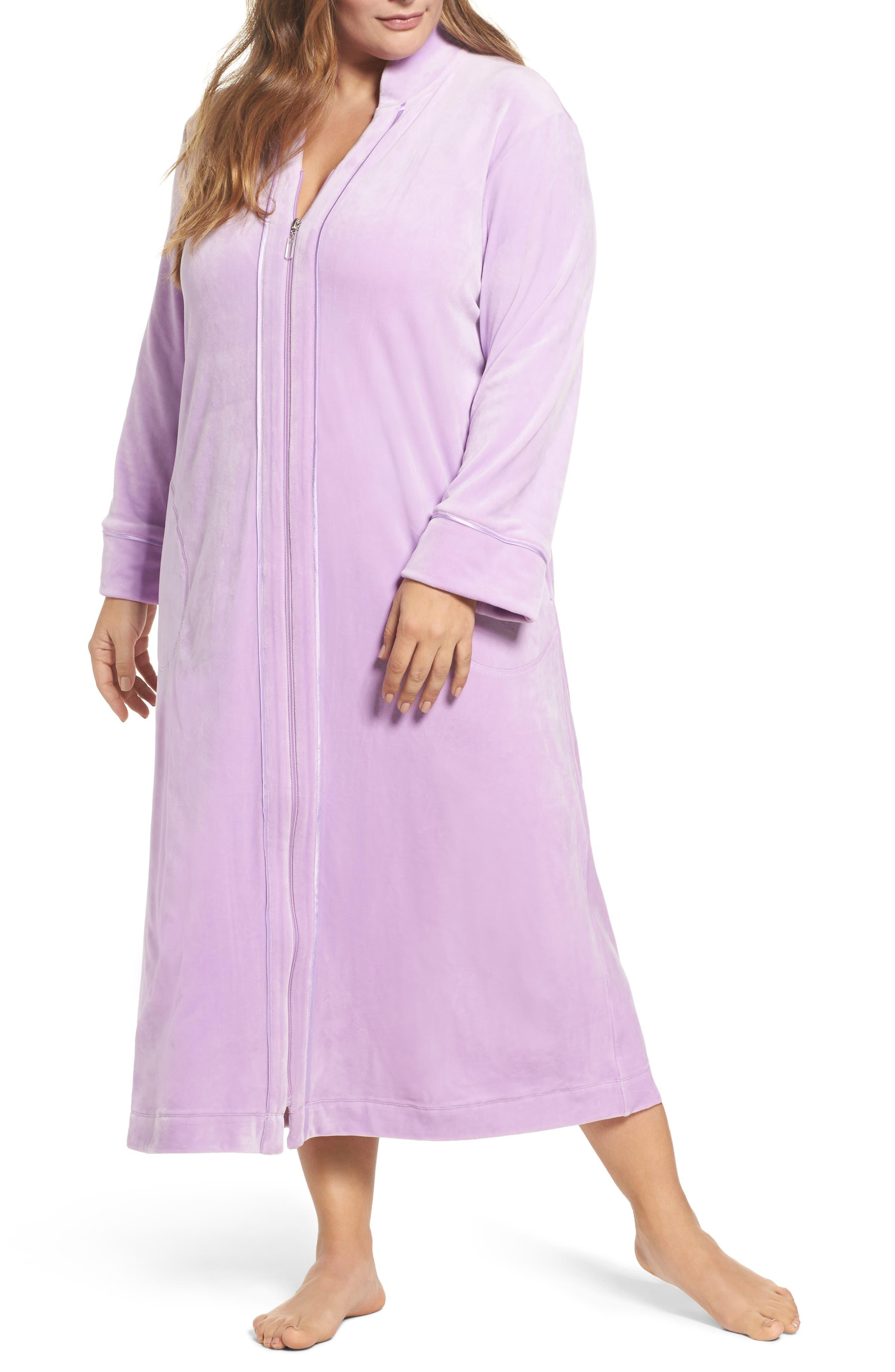 Carole Hochman Velour Zip Robe (Plus Size)